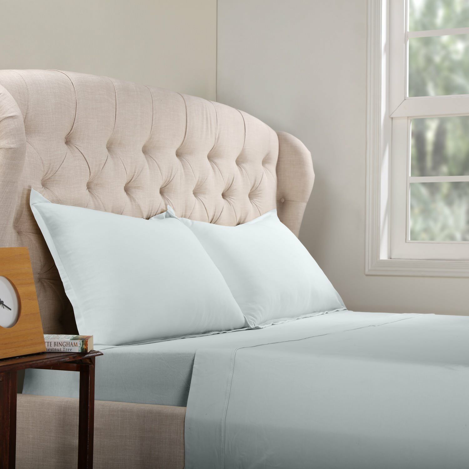 Geoffrey 100% Cotton Jersey Bed Sheet Set Color: Silver, Size: California King