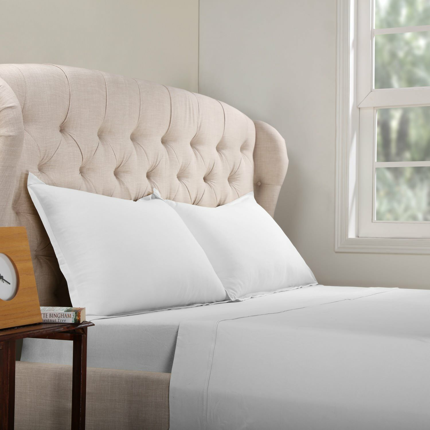 Geoffrey 100% Cotton Jersey Bed Sheet Set Color: White, Size: Twin