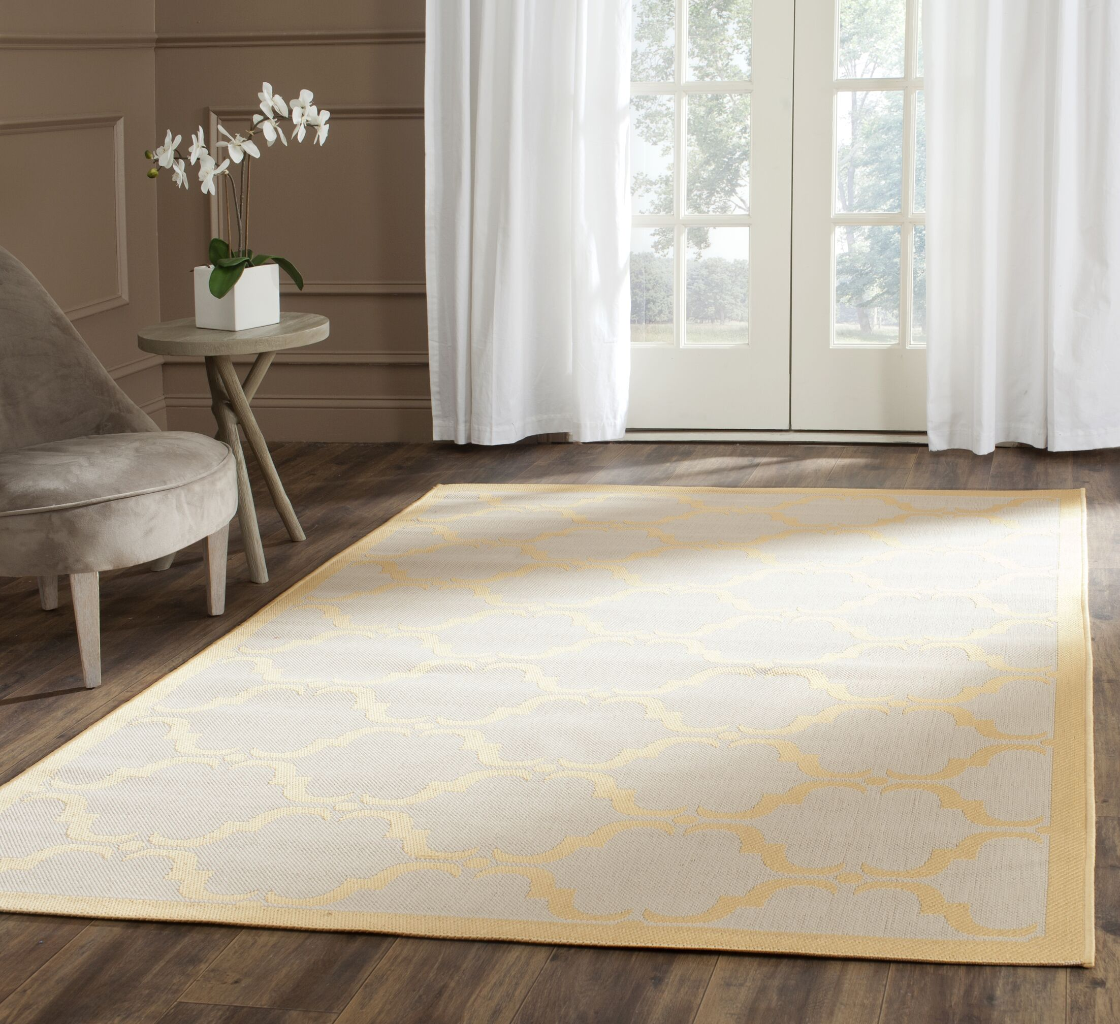 Pohl Tile Beige/Yellow Area Rug Rug Size: Rectangle 6'7