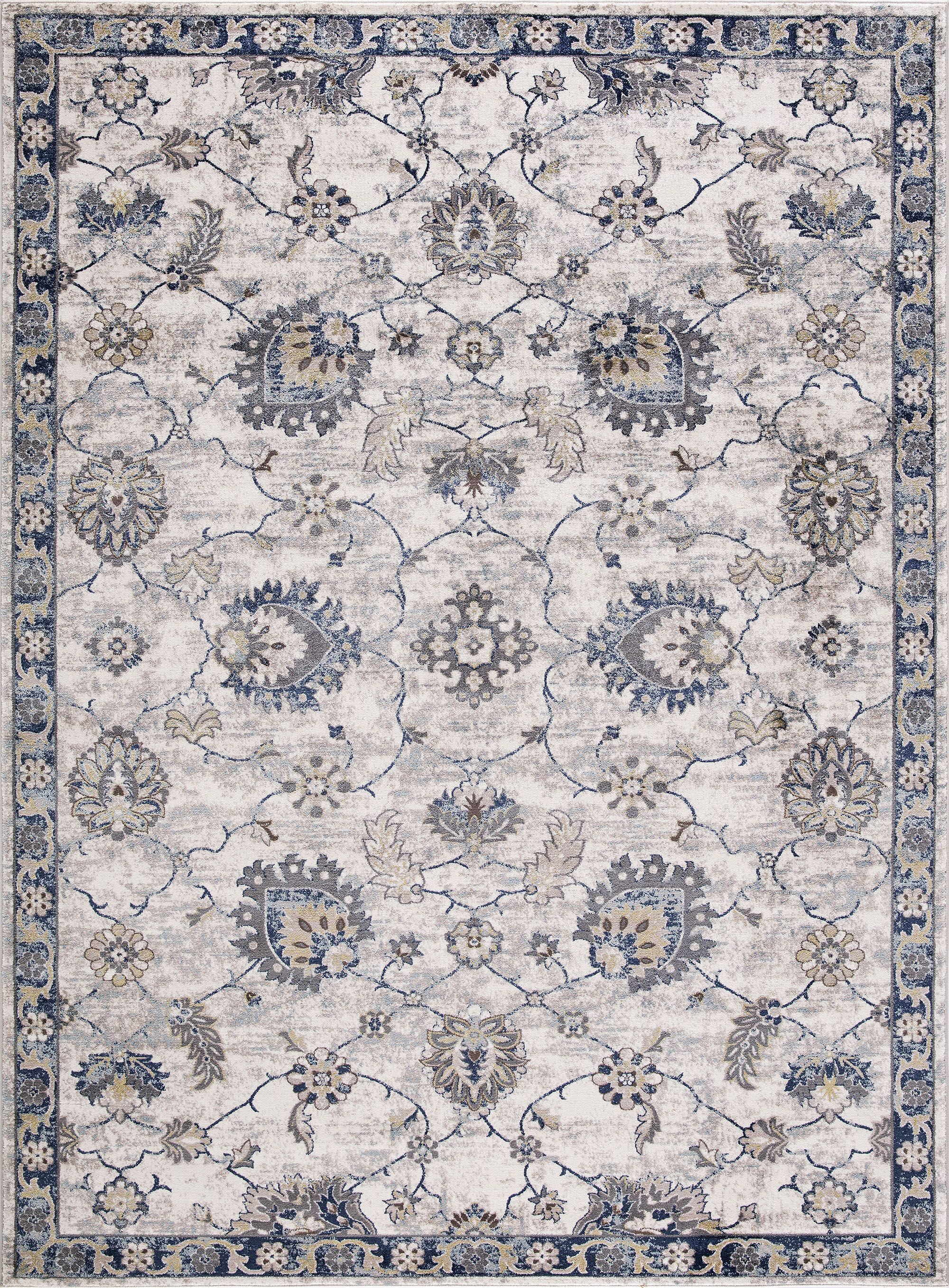 Reames Mahal Blue Area Rug Rug Size: Rectangle 5'3