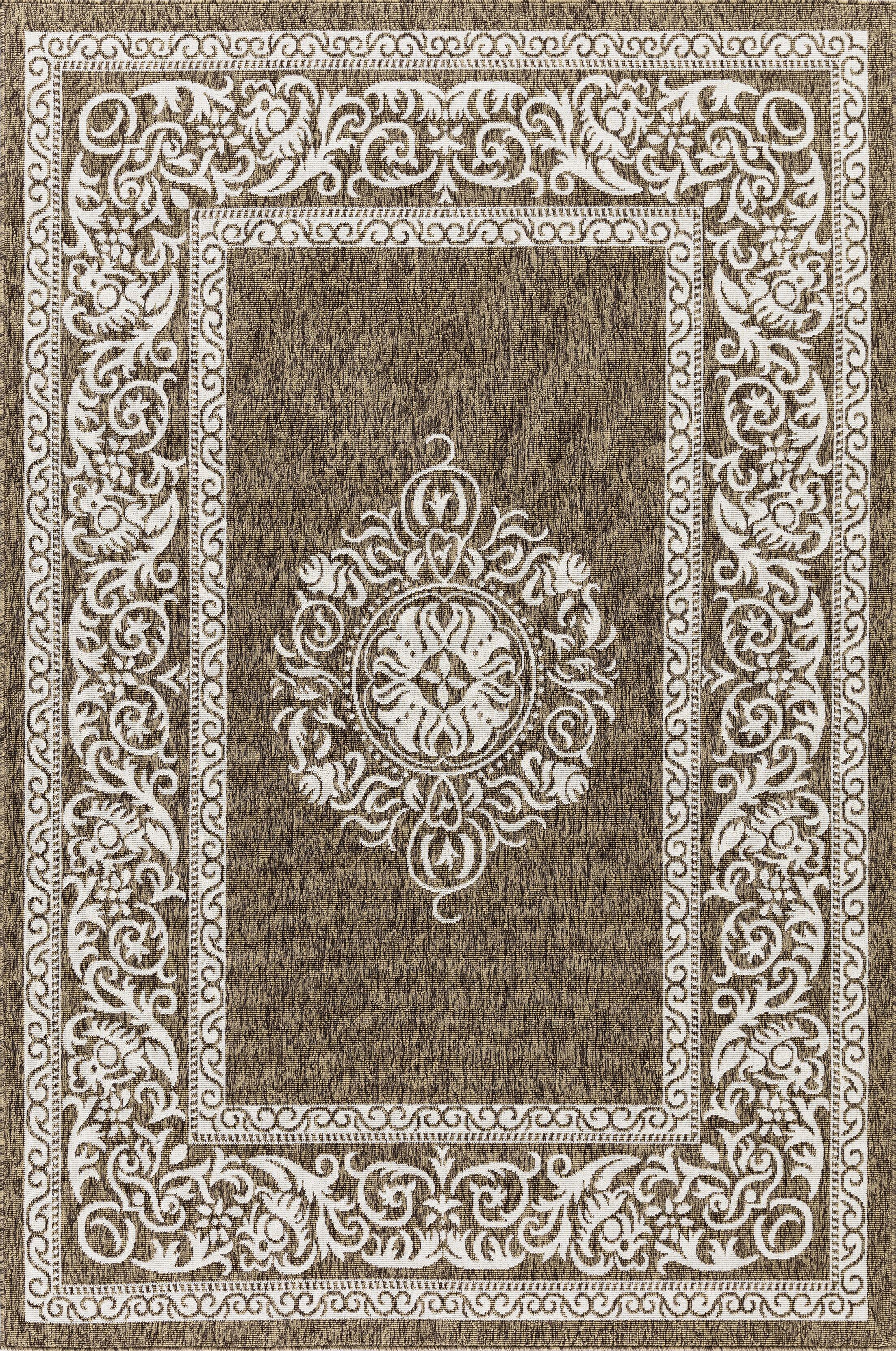 Ramos Beautiful Brown Indoor/Outdoor Area Rug Rug Size: Rectangle 5'3