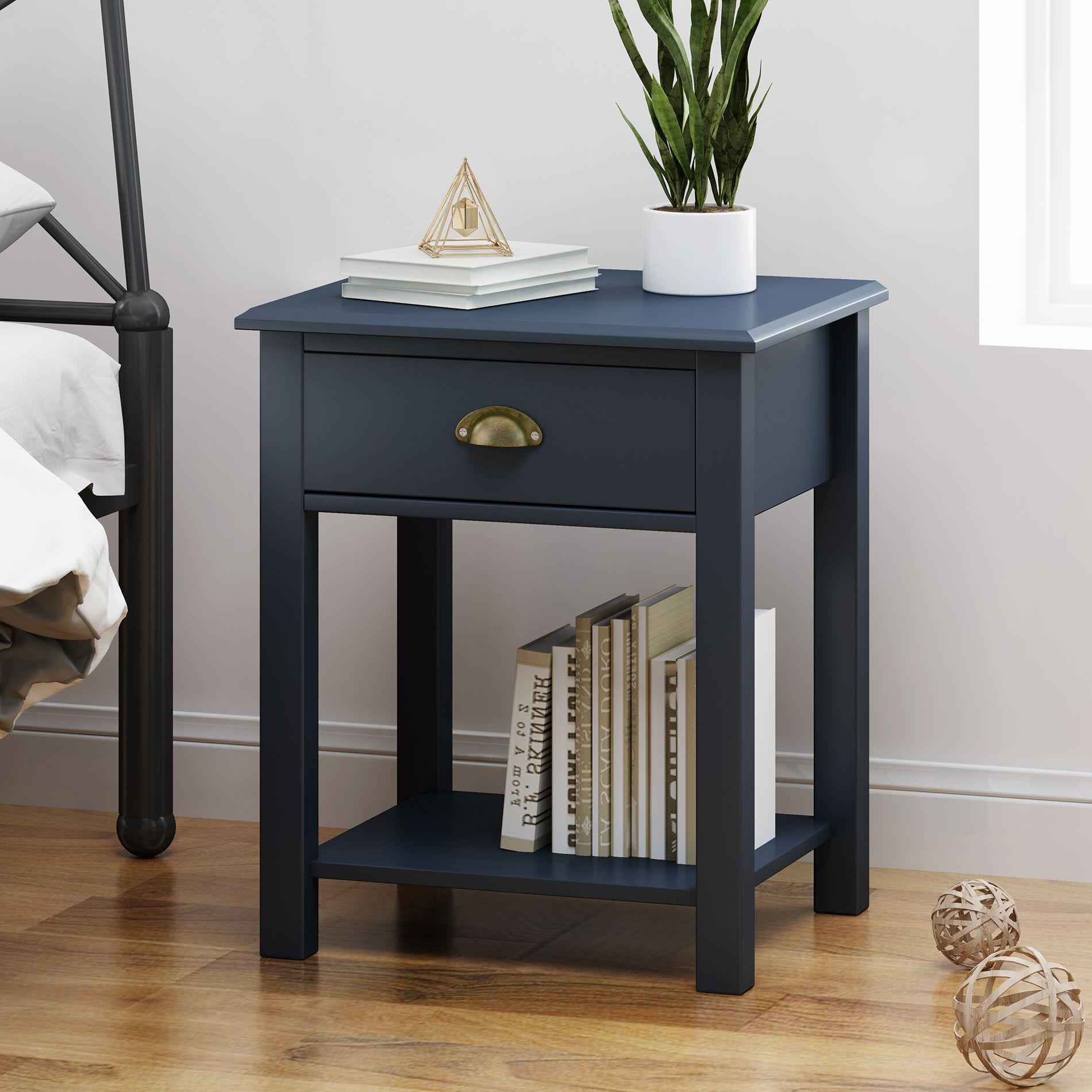 Salley End Table Color: Dark Blue