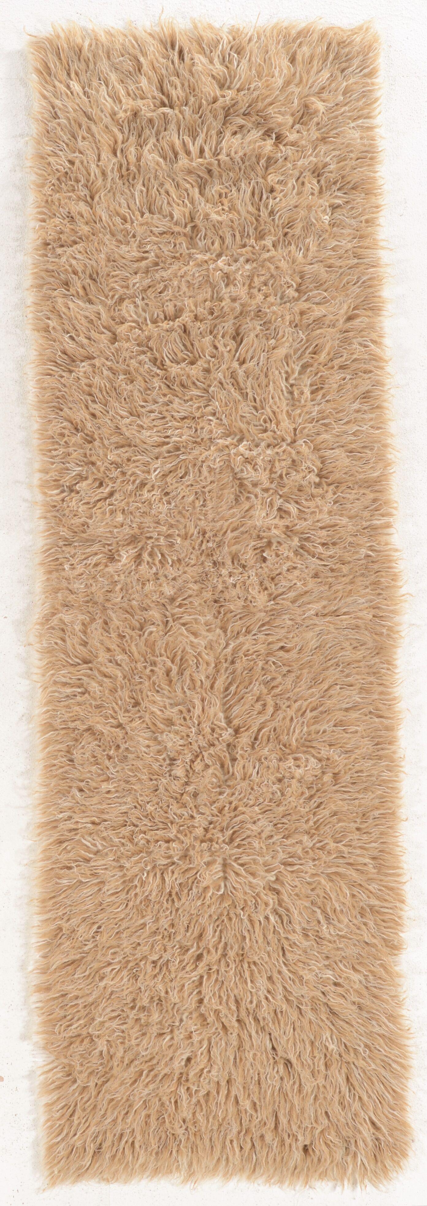 Bloomville Wool Tan/White Area Rug Rug Size: Runner 2'4