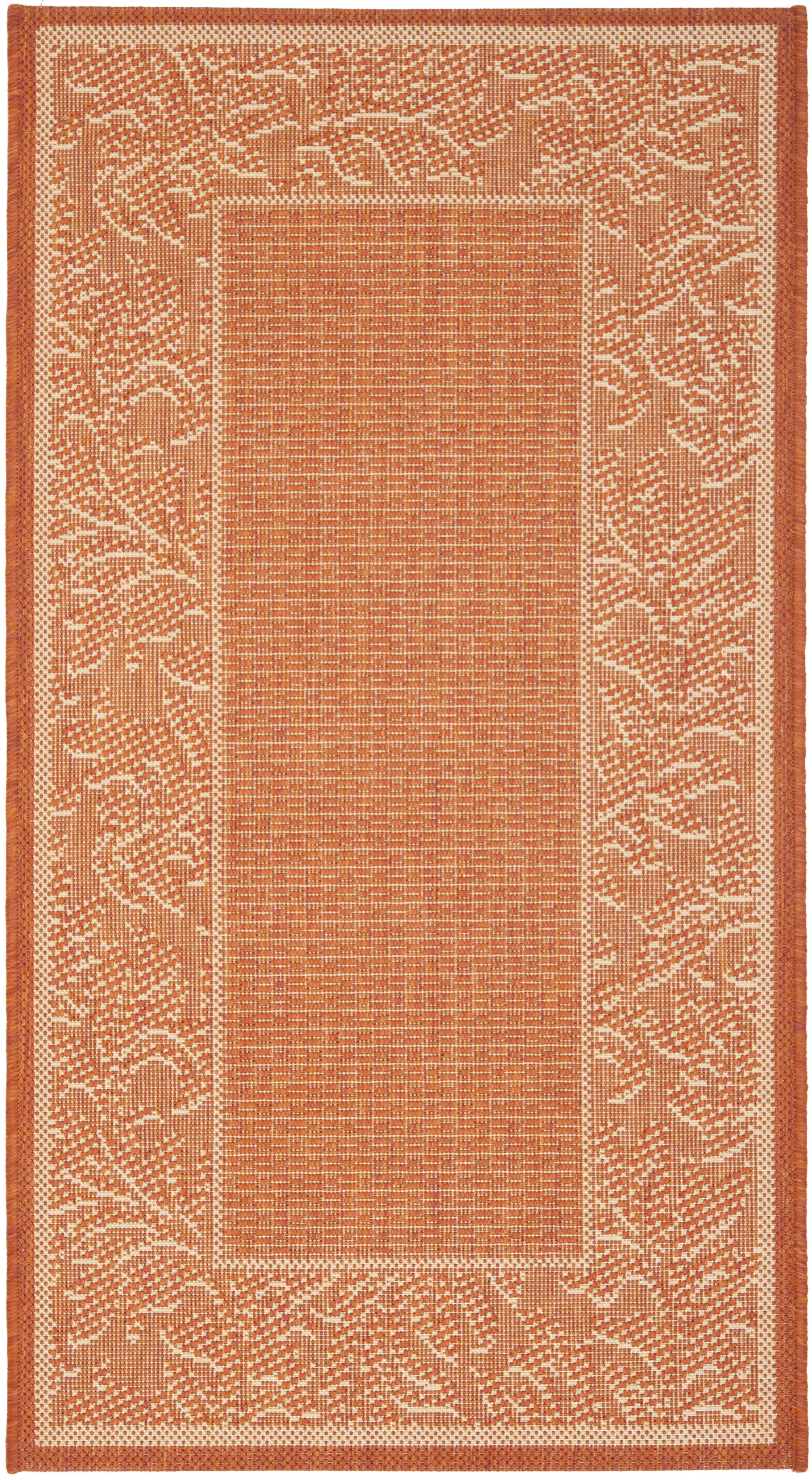 Octavius Terracotta/Natural Outdoor Rug Rug Size: Rectangle 2' x 3'7