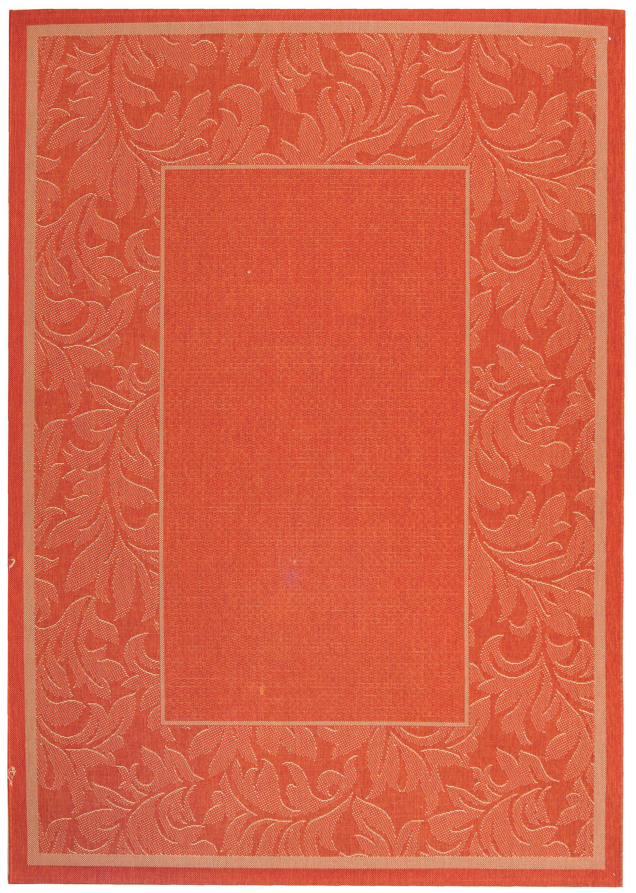 Octavius Terracotta/Natural Outdoor Rug Rug Size: Rectangle 6'7