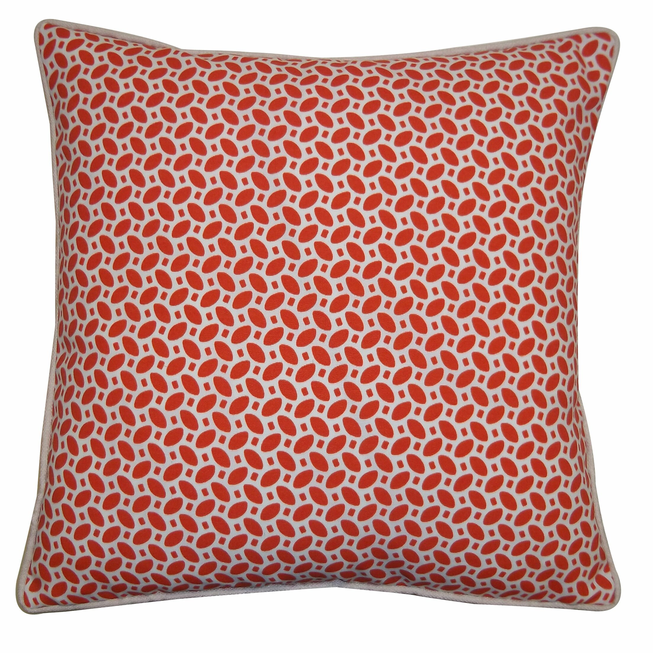 Massey Outdoor Throw Pillow Color: Red