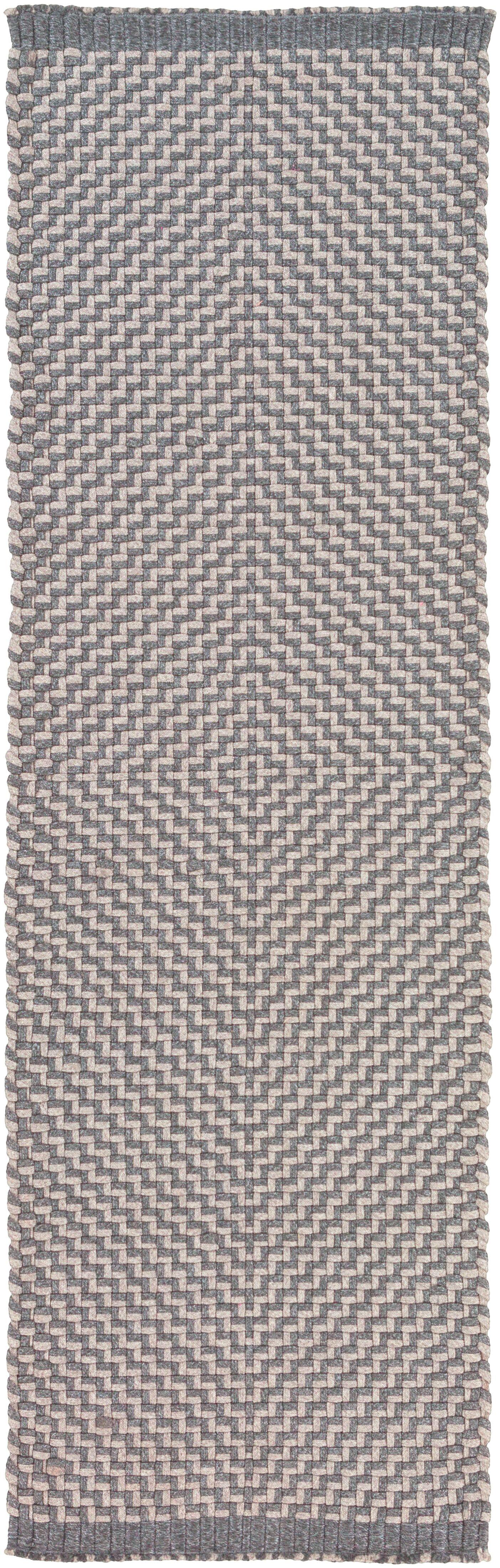 Walton Bay Hand-Woven Gray Indoor/Outdoor Area Rug Rug Size: Runner 2'6