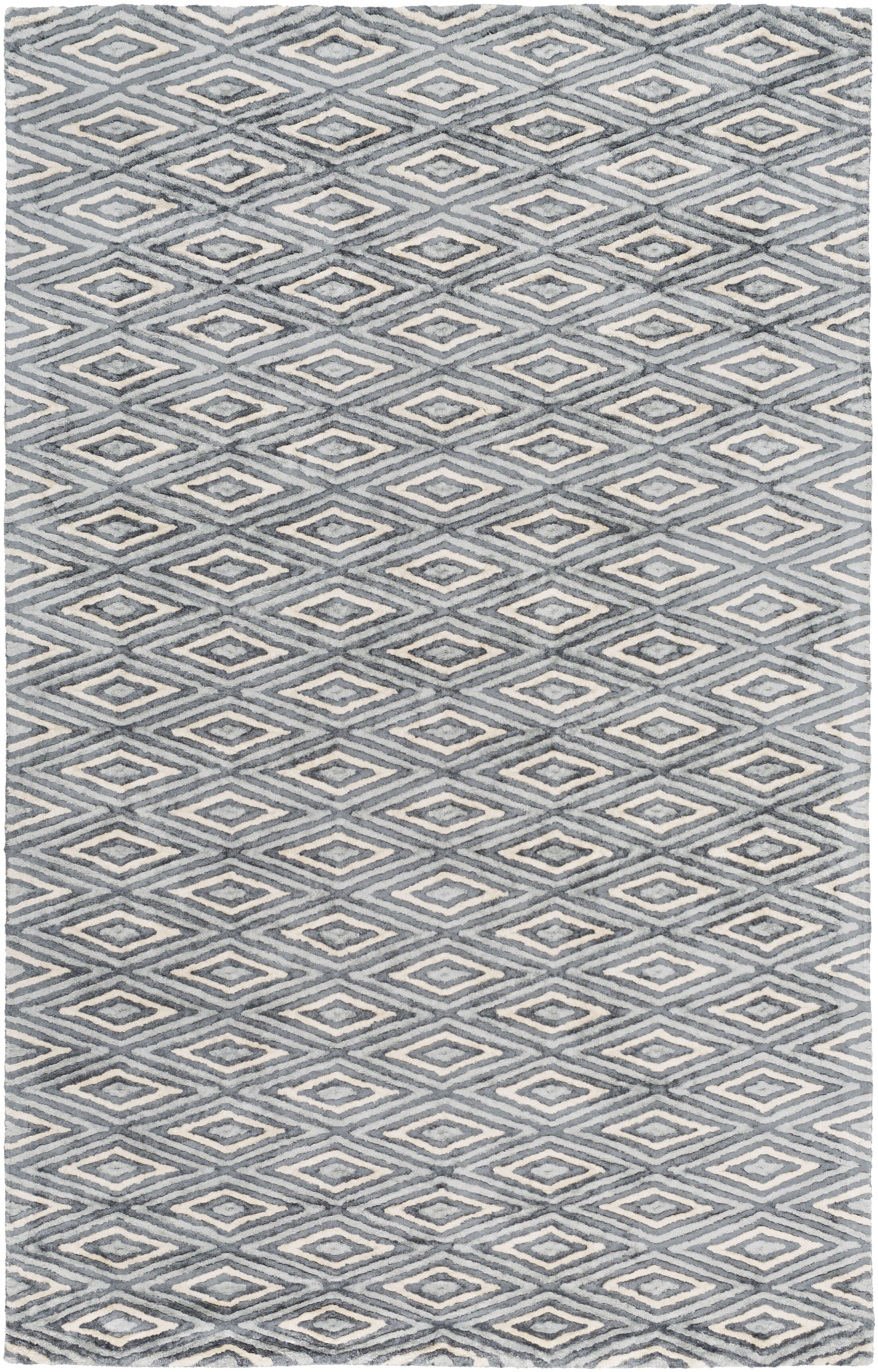 Arenas Hand-Woven Charcoal/Ivory Area Rug Rug Size: Rectangle 6' x 9'