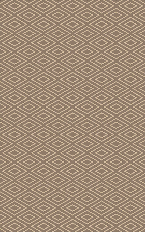 Arcuri Hand-Woven Beige/Ivory Area Rug Rug Size: Rectangle 5' x 7'6