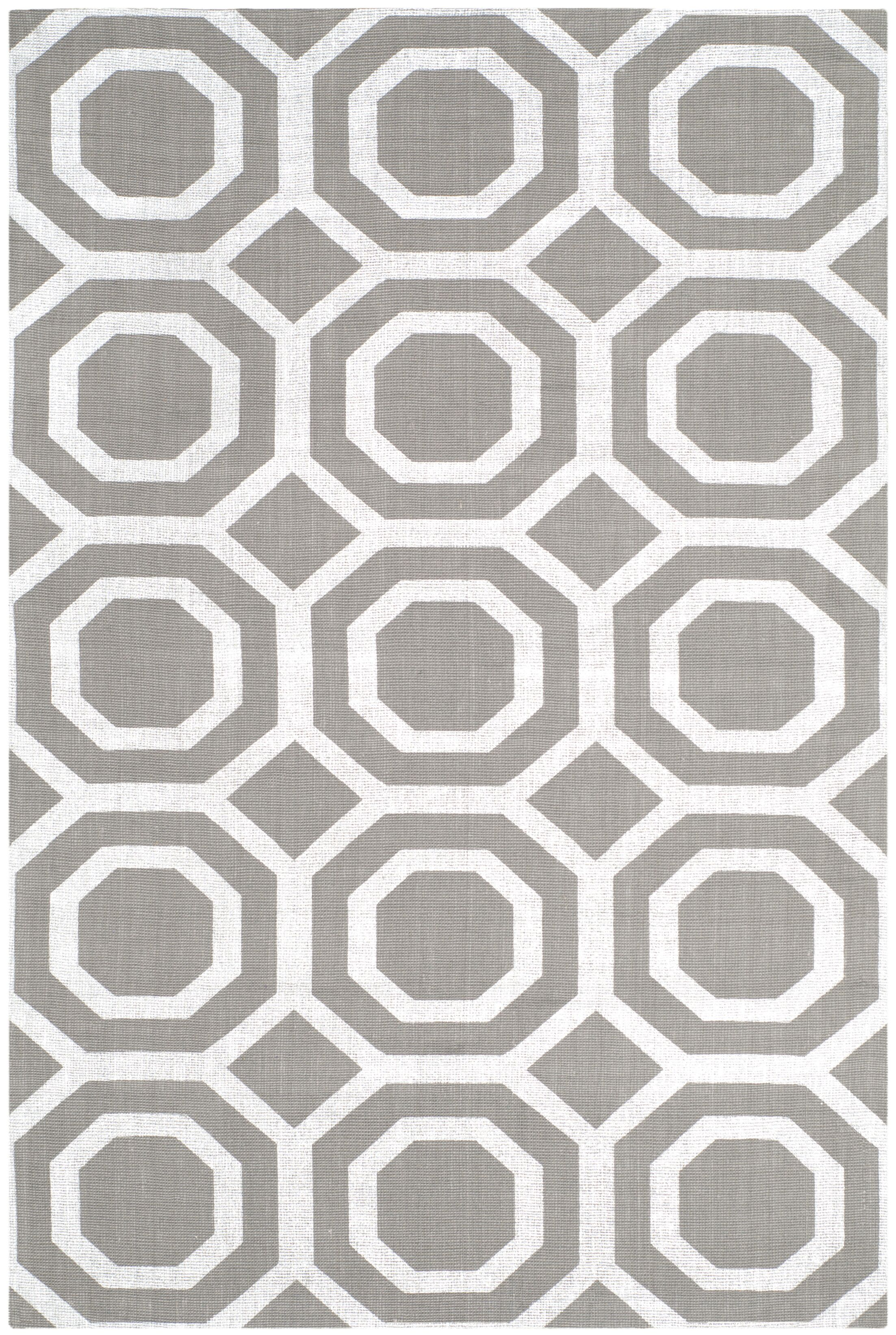 Columbus Circle Brook Hand-Loomed Grey/Silver Area Rug Rug Size: Rectangle 4' x 6'