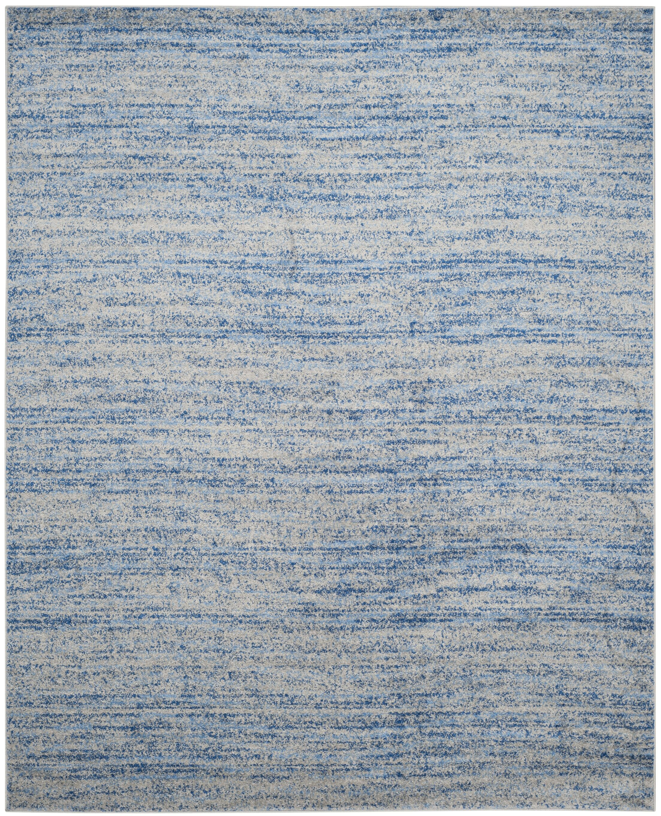 Millbrae Blue/Silver Area Rug Rug Size: Rectangle 5'1