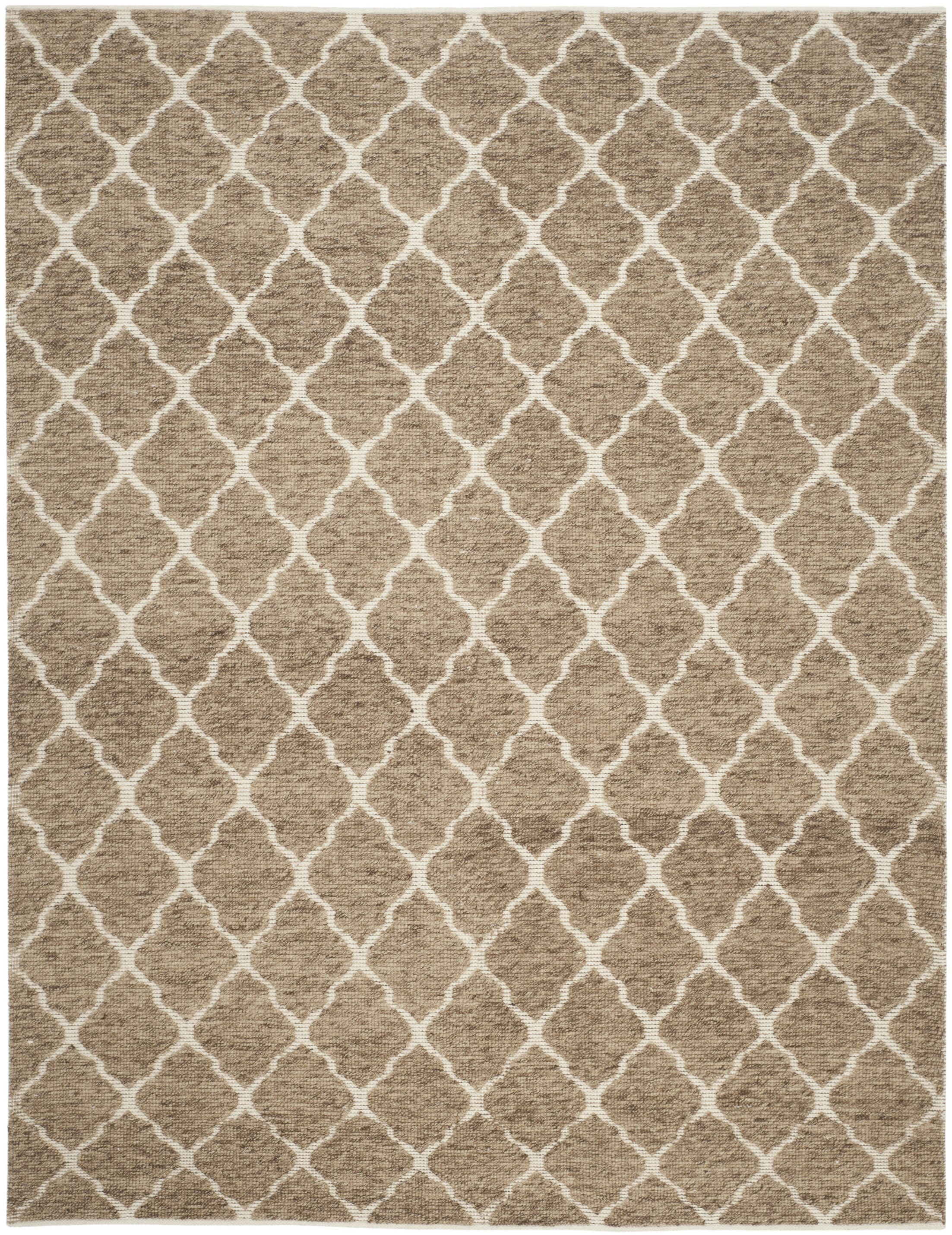 Vermont Hand-Woven Beige/Ivory Area Rug Rug Size: Rectangle 6' x 9'