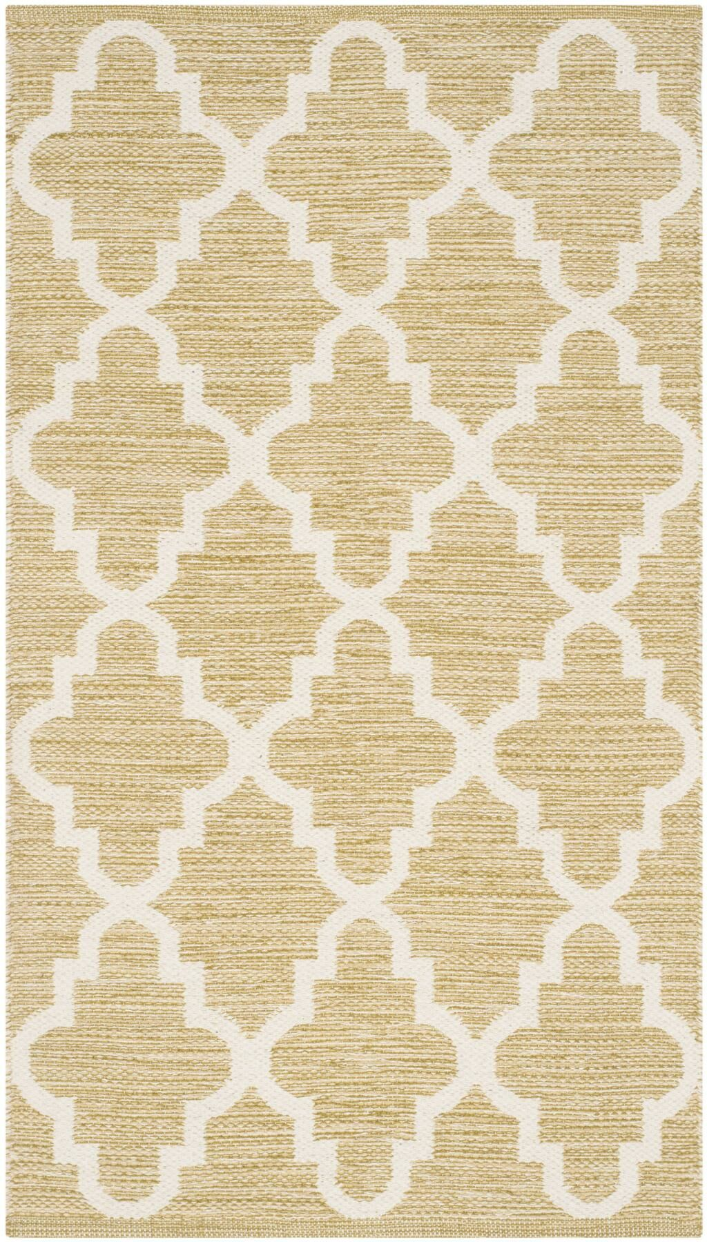 Shevchenko Place Hand-Woven Green / Ivory Area Rug Rug Size: Rectangle 4' x 6'