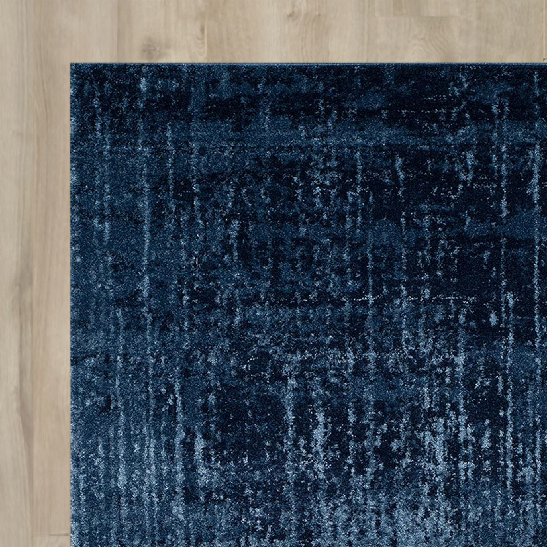 Tenth Avenue Light Blue/Blue Area Rug Rug Size: Runner 2'6