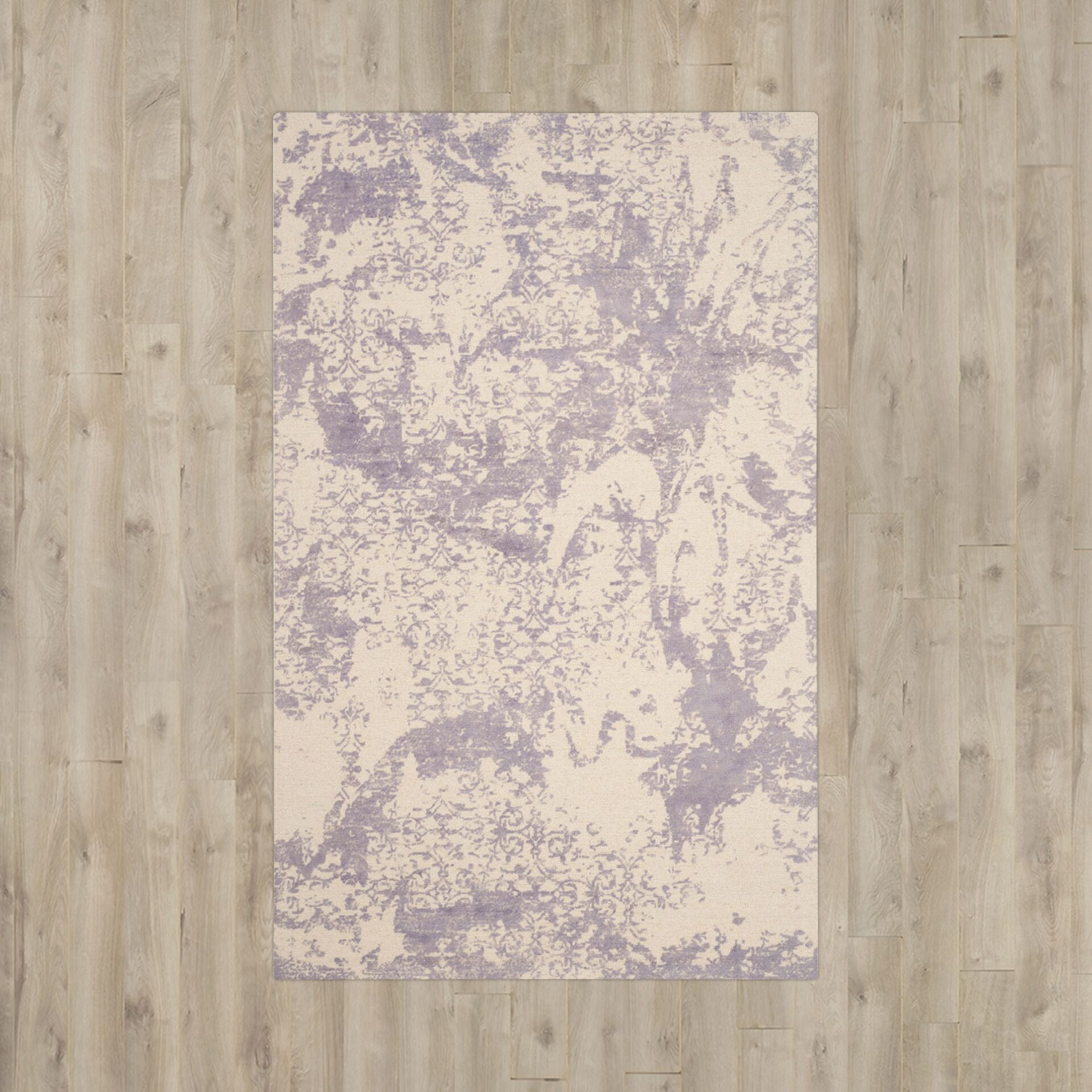 Tenth Avenue Hand-Tufted Grey / Ivory Area Rug Rug Size: Rectangle 8' x 10'