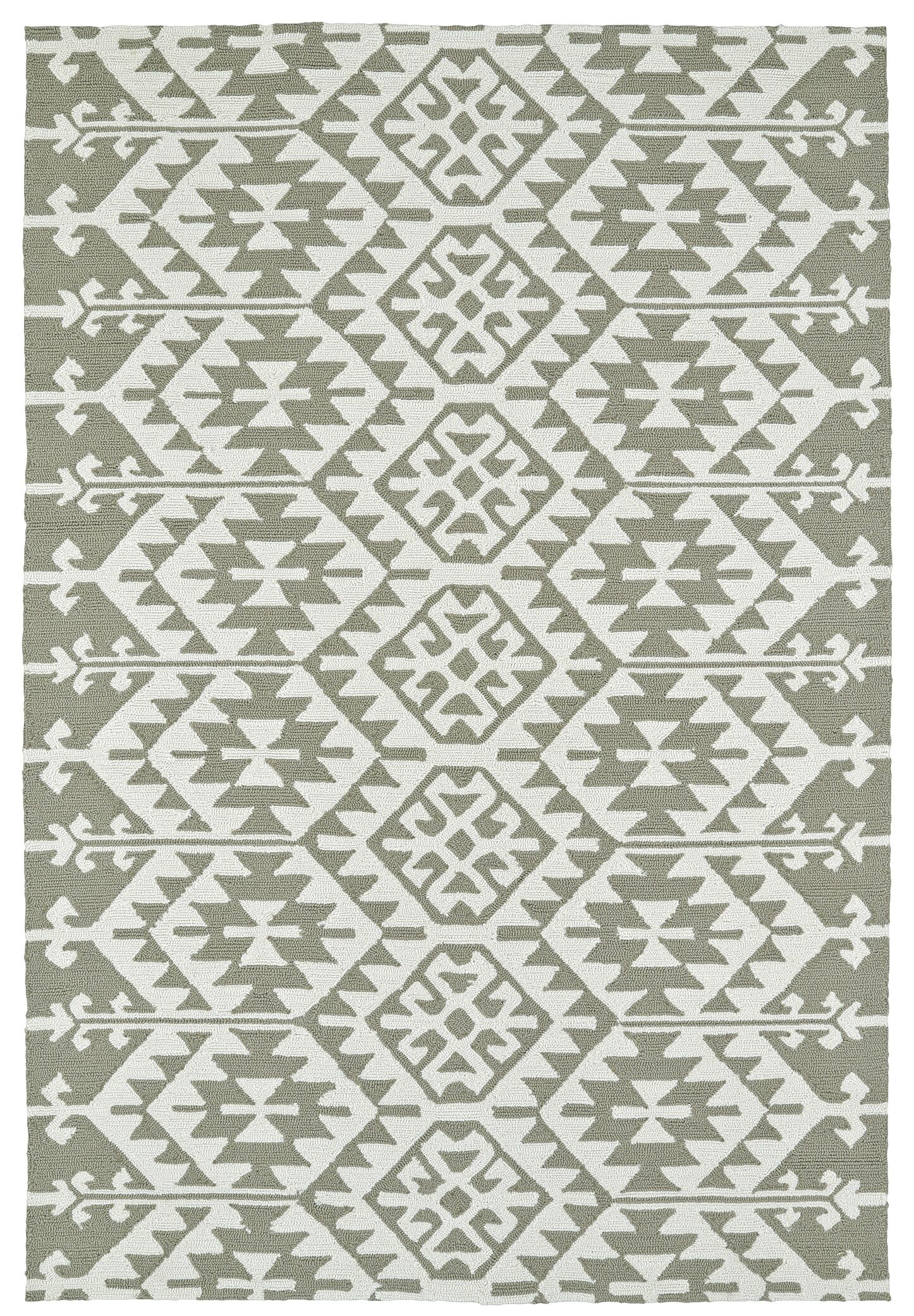 Handmade Taupe/Ivory Indoor/Outdoor Area Rug Rug Size: Rectangle 8' x 10'