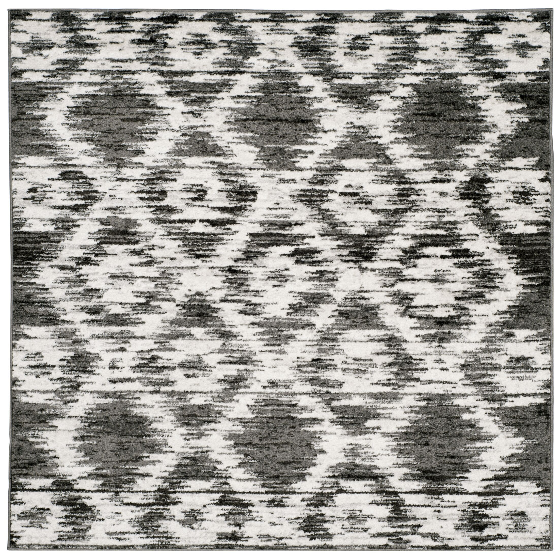 Connie Charcoal/Ivory Area Rug Rug Size: Square 6'