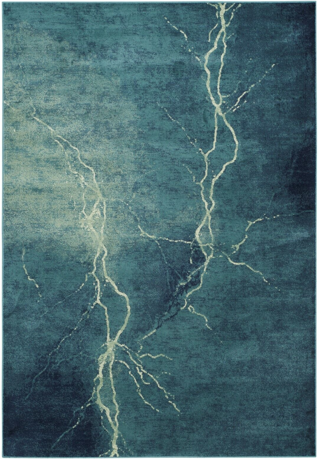 Stave Turquoise Area Rug Rug Size: Rectangle 3'3