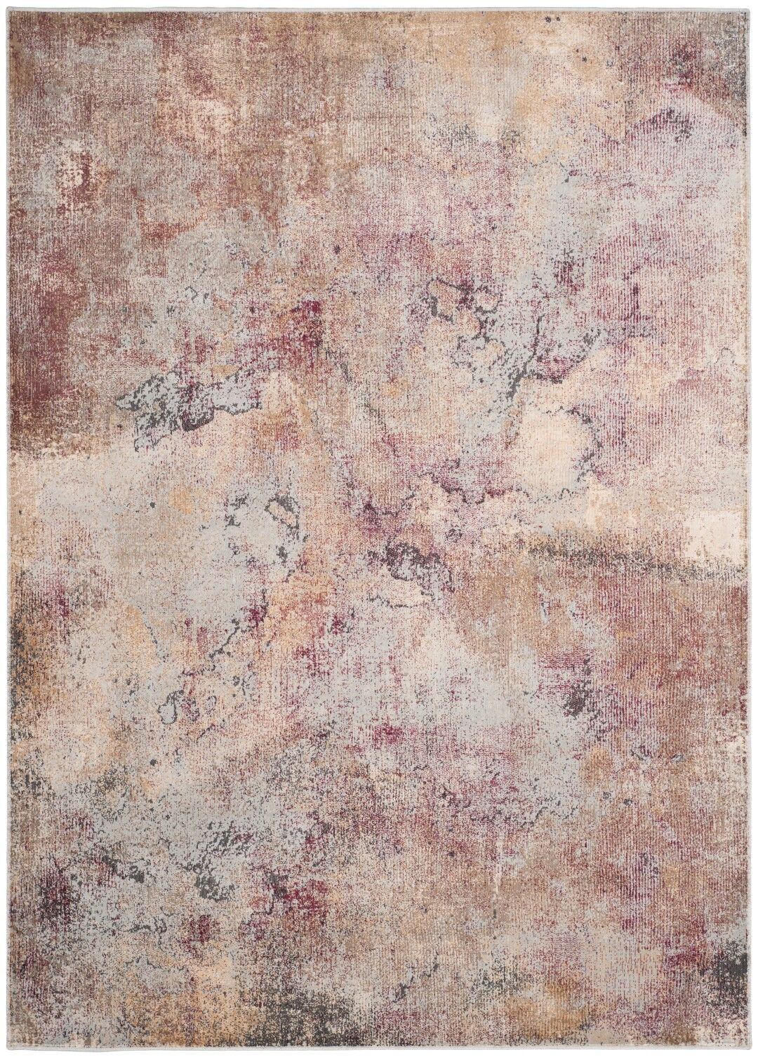 Stave Beige/Multi Area Rug Rug Size: Rectangle 5'3