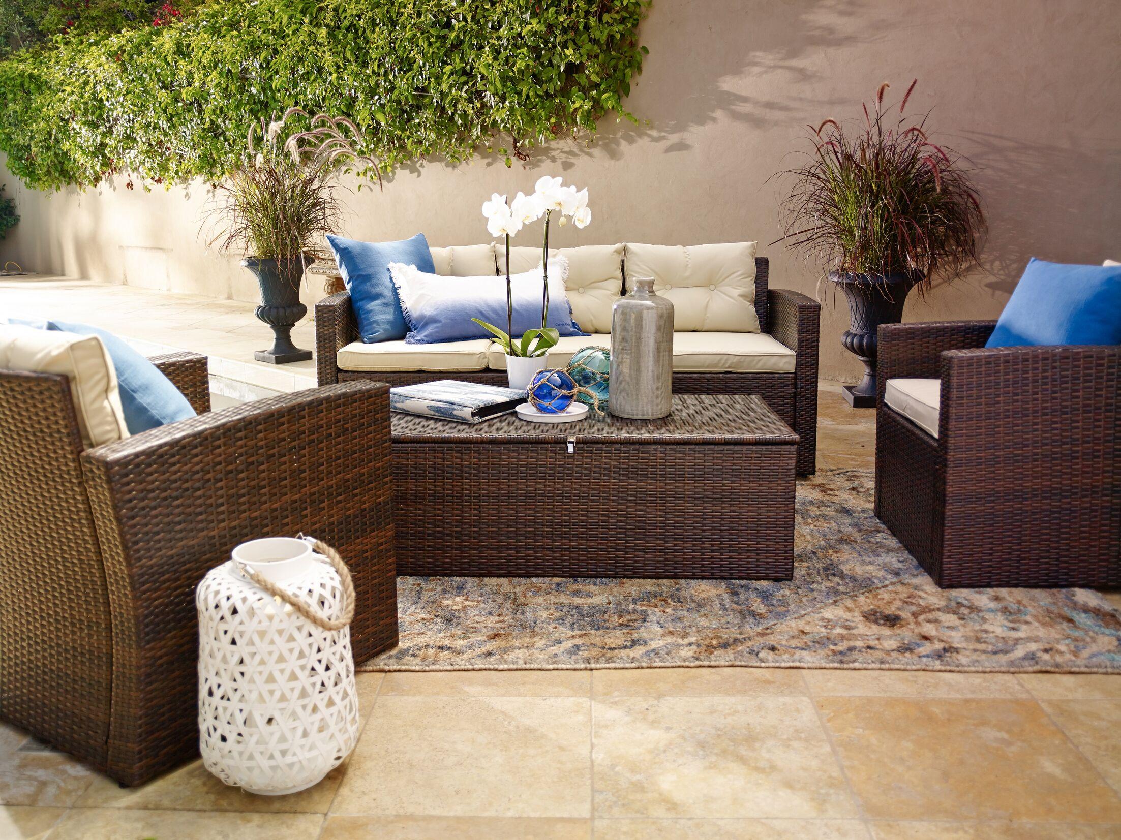 Sanor 4 Piece Sofa Set with Cushions
