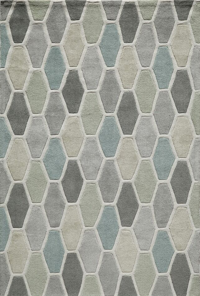 Wills Hand-Tufted Gray/Blue Area Rug Rug Size: Rectangle 8' x 10'