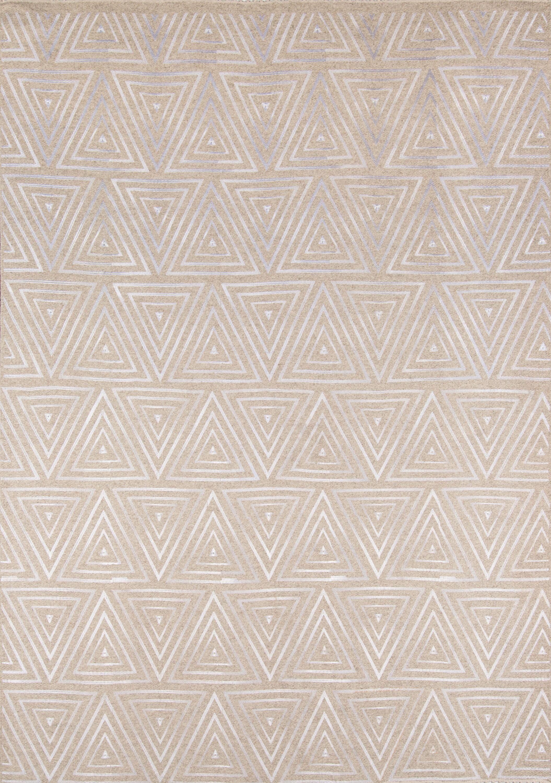 Zelda Hand-Woven Sand Area Rug Rug Size: Rectangle 3'6