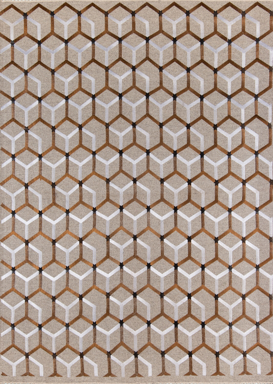 Zelda Hand-Woven Copper/Natural Area Rug Rug Size: Rectangle 3'6