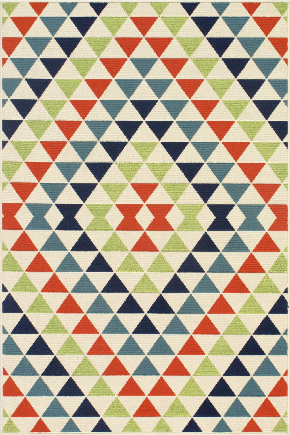 Bourgeois Hand-Woven Blue/Green/Red Indoor/Outdoor Area Rug Rug Size: Rectangle 5'3