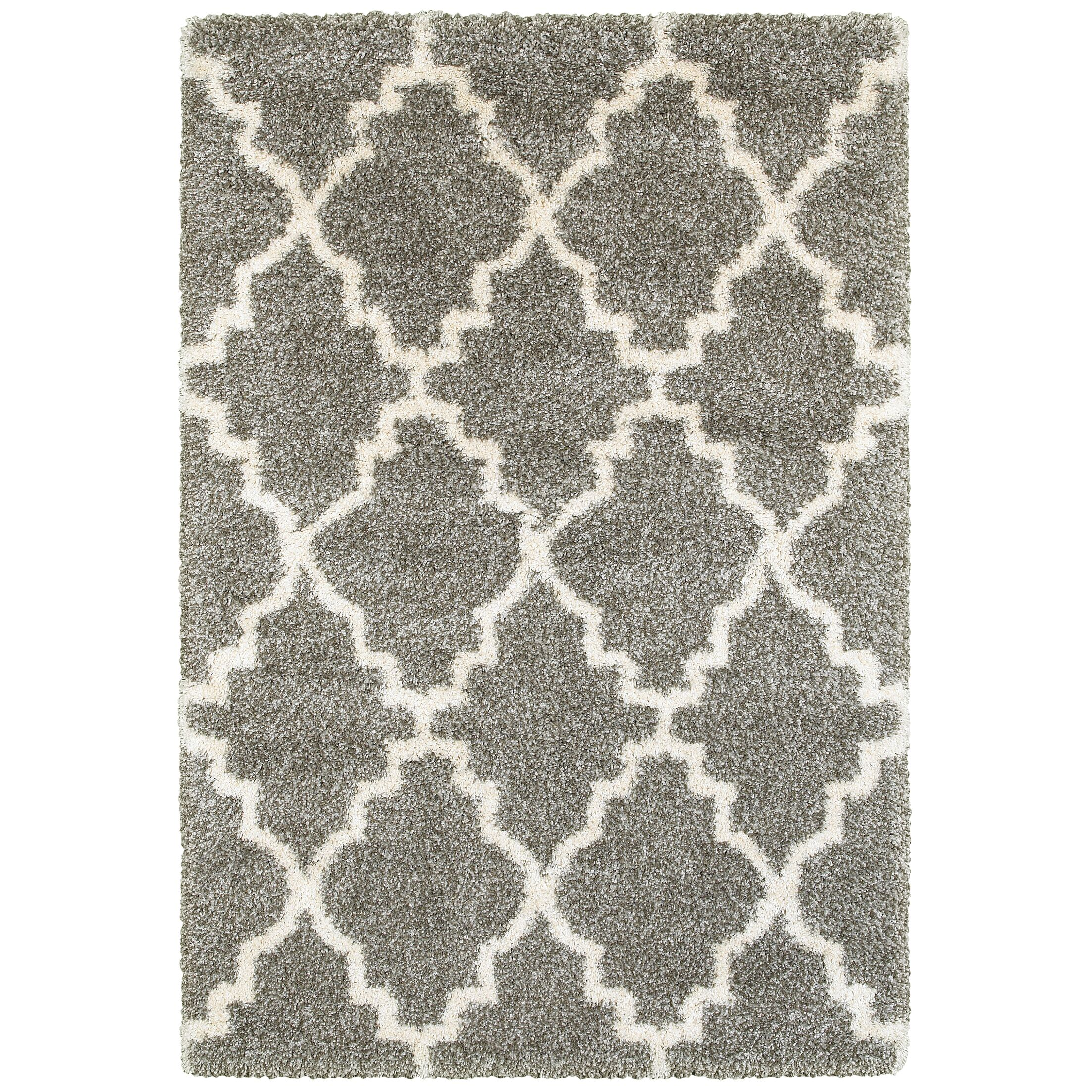 Sayer Gray/Ivory Area Rug Size: Rectangle 6'7