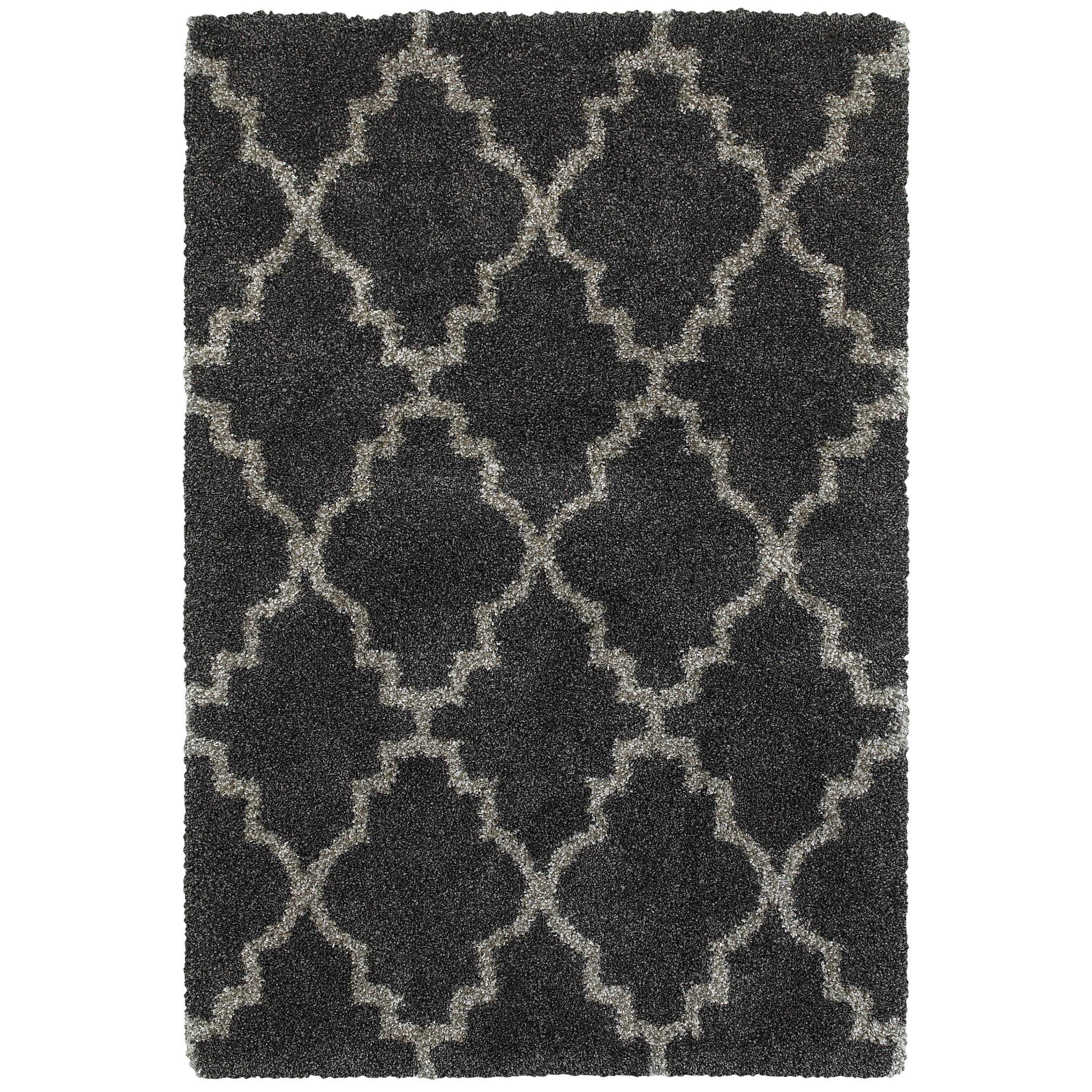 Sayer Charcoal/Gray Area Rug Size: Rectangle 7'10