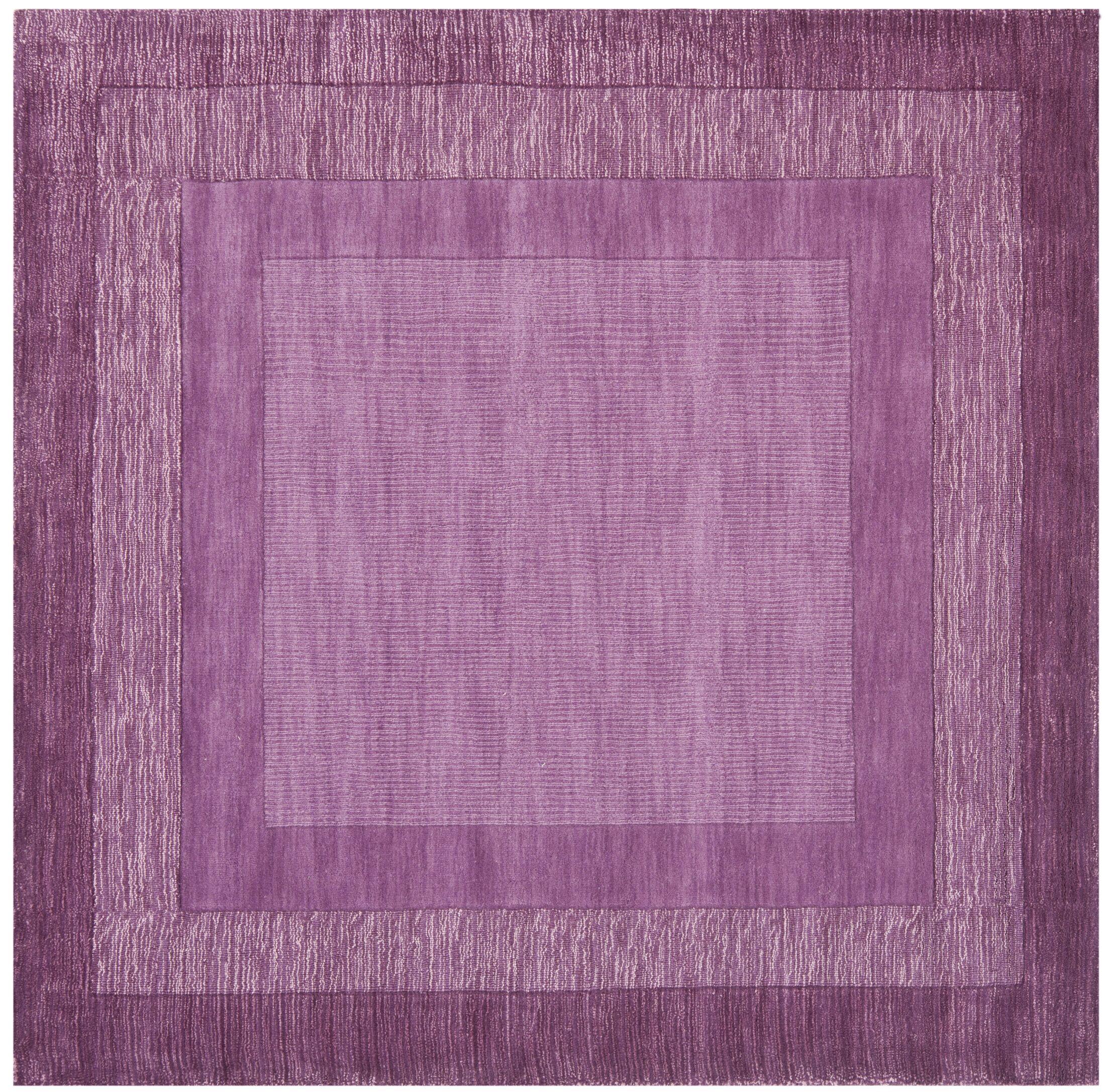 Scanlan Purple Area Rug Rug Size: Square 6'
