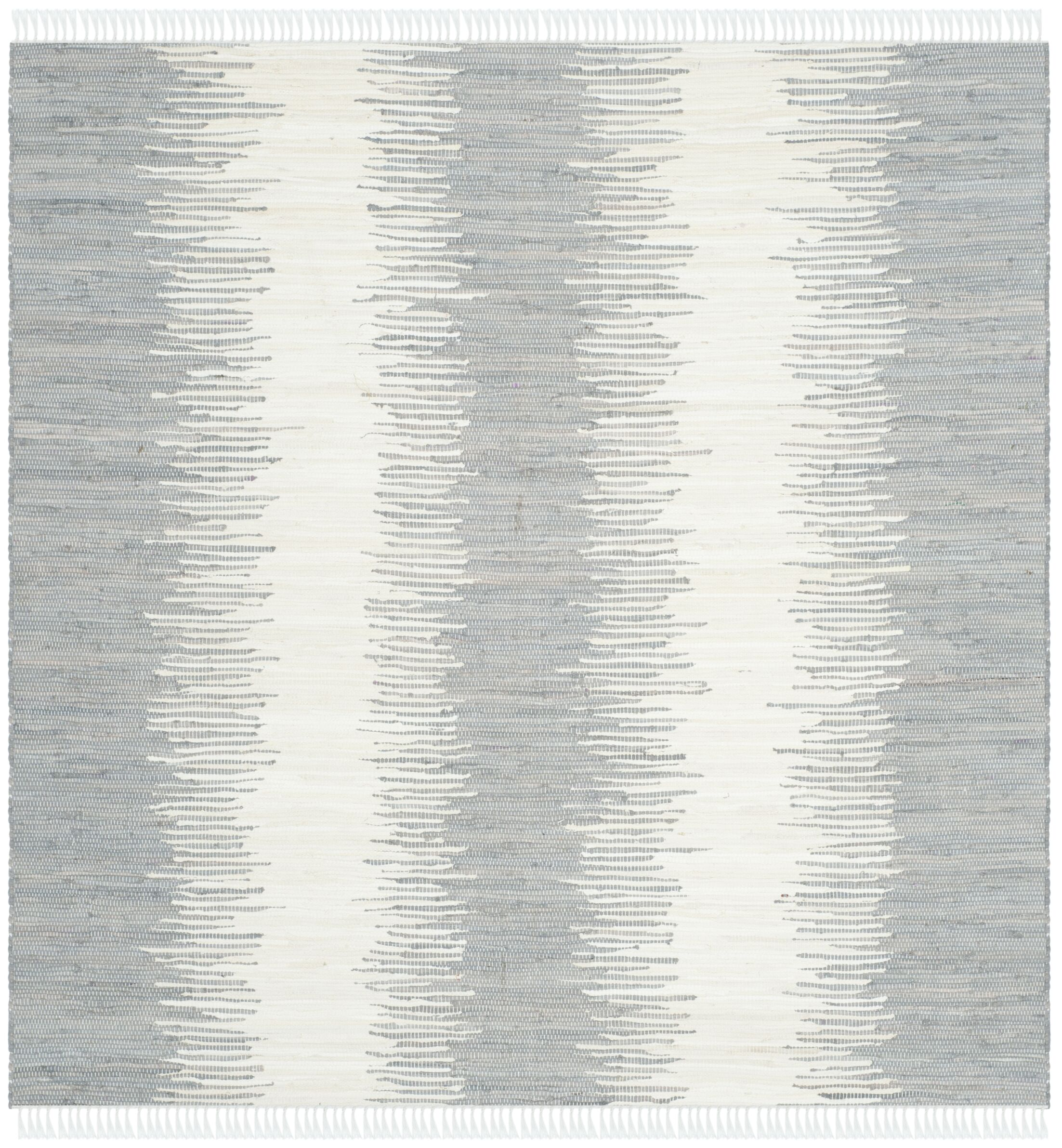 Lotie Hand-Woven Gray Area Rug Rug Size: Square 6'