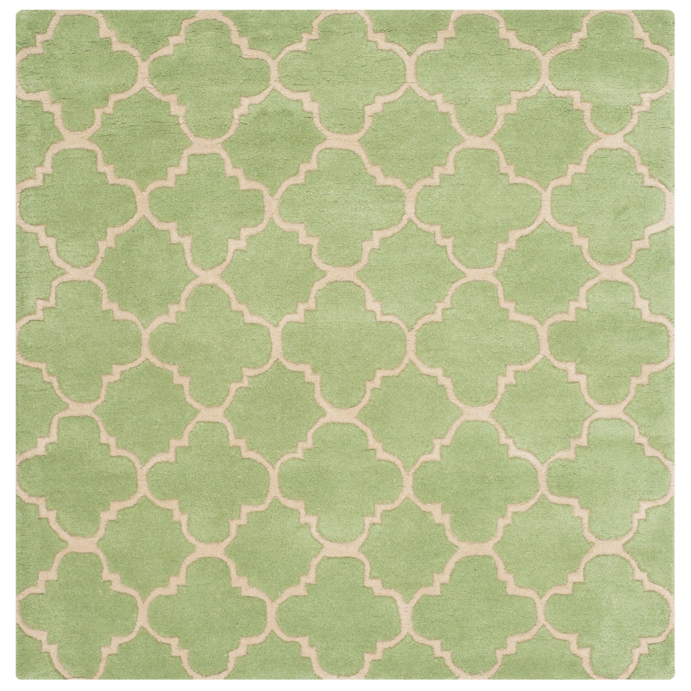 Wilkin Green Area Rug Rug Size: Square 5'