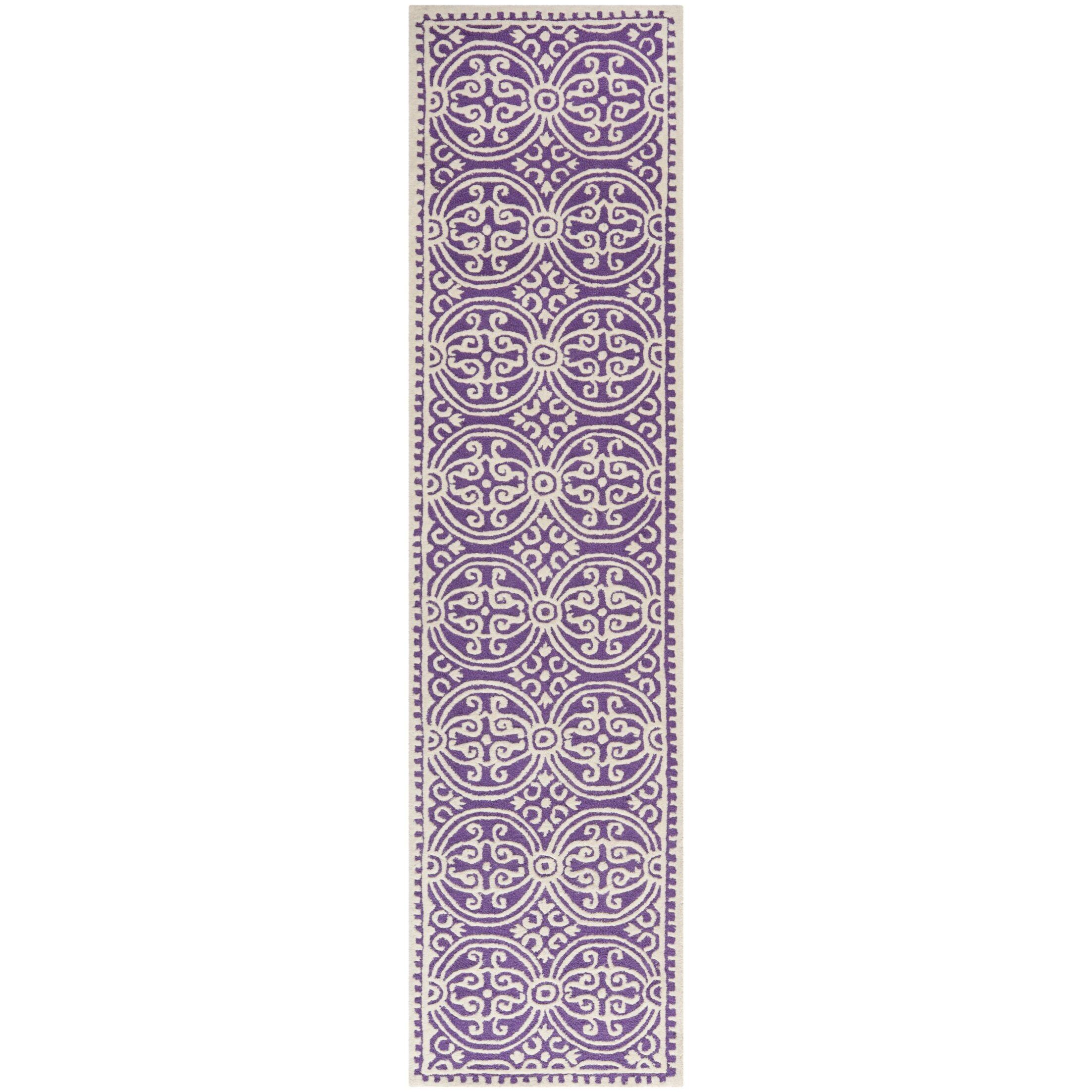 Fairburn Purple   Area Rug Rug Size: Runner 2'6