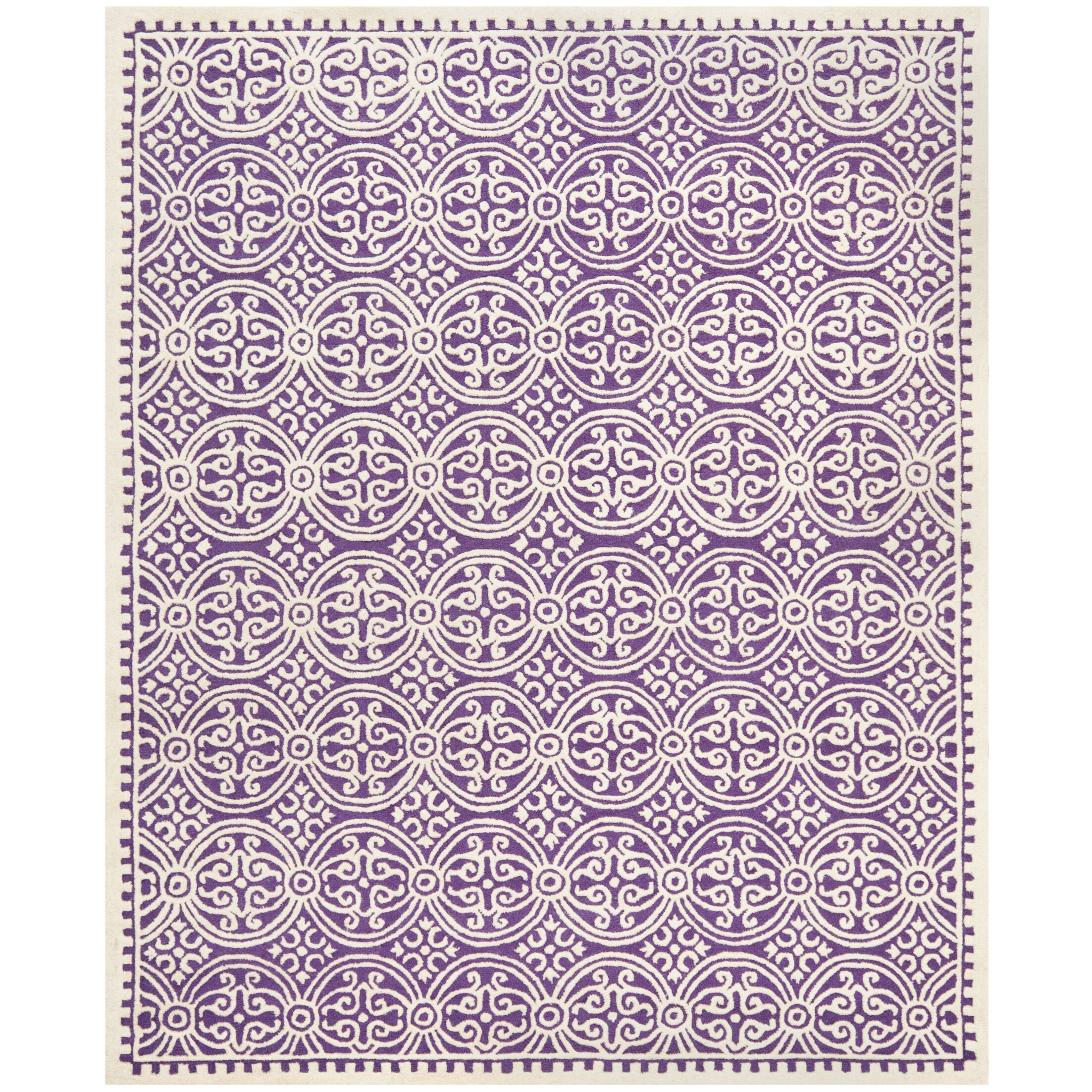 Fairburn Purple   Area Rug Rug Size: Rectangle 8' x 10'