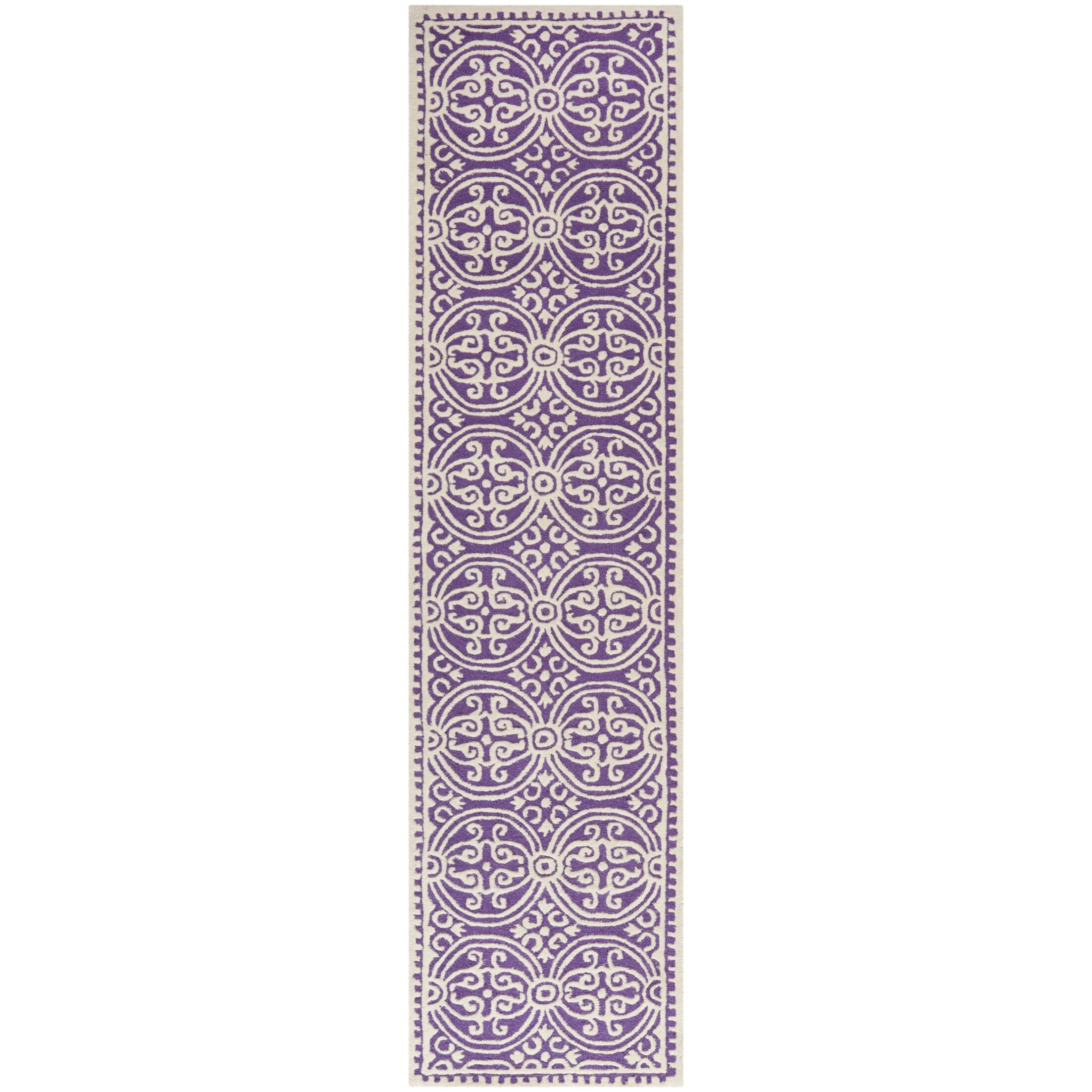 Fairburn Purple   Area Rug Rug Size: Runner 2'6