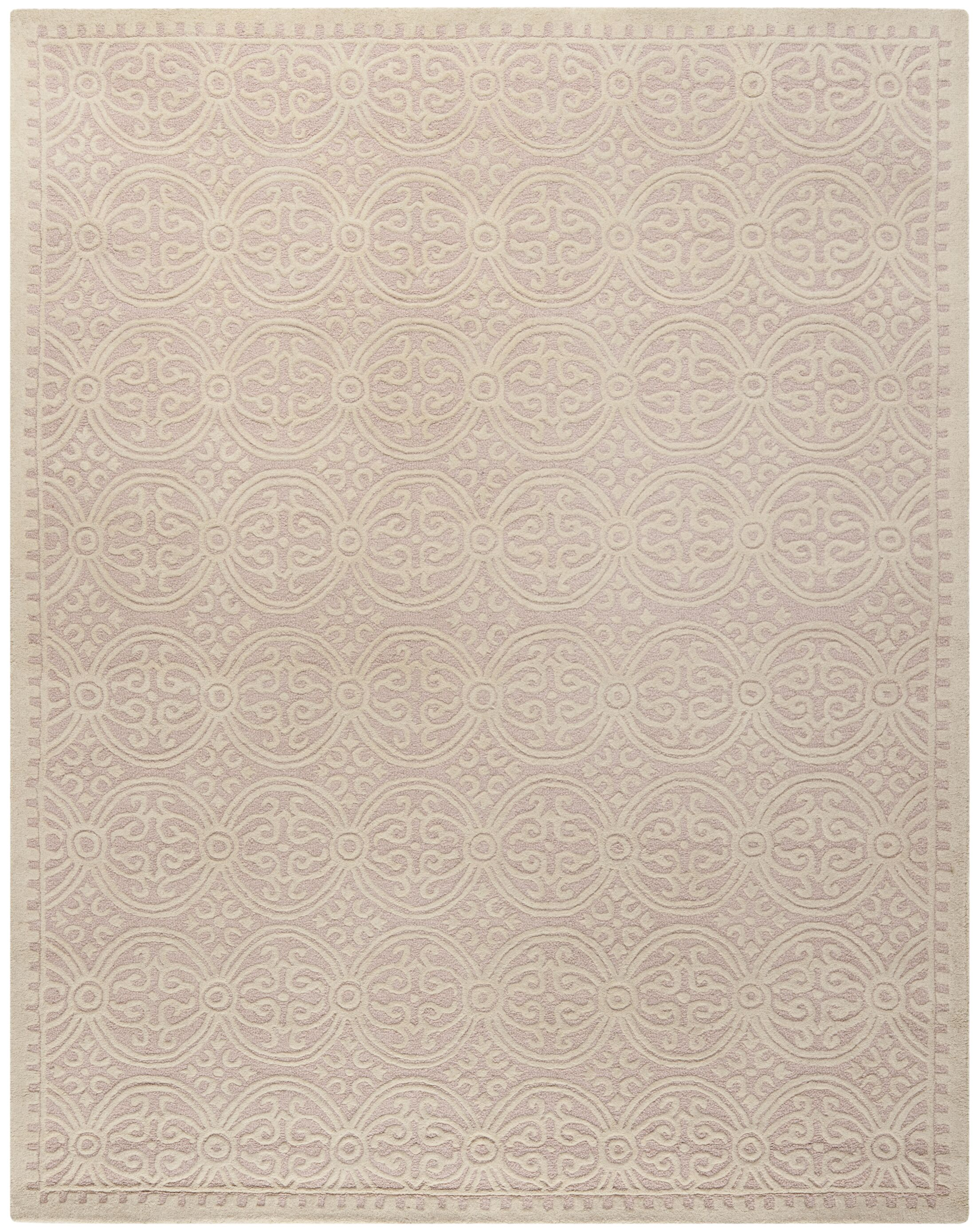 Charlenne Hand-Tufted Light Pink/Ivory Area Rug Rug Size: Rectangle 10' x 14'