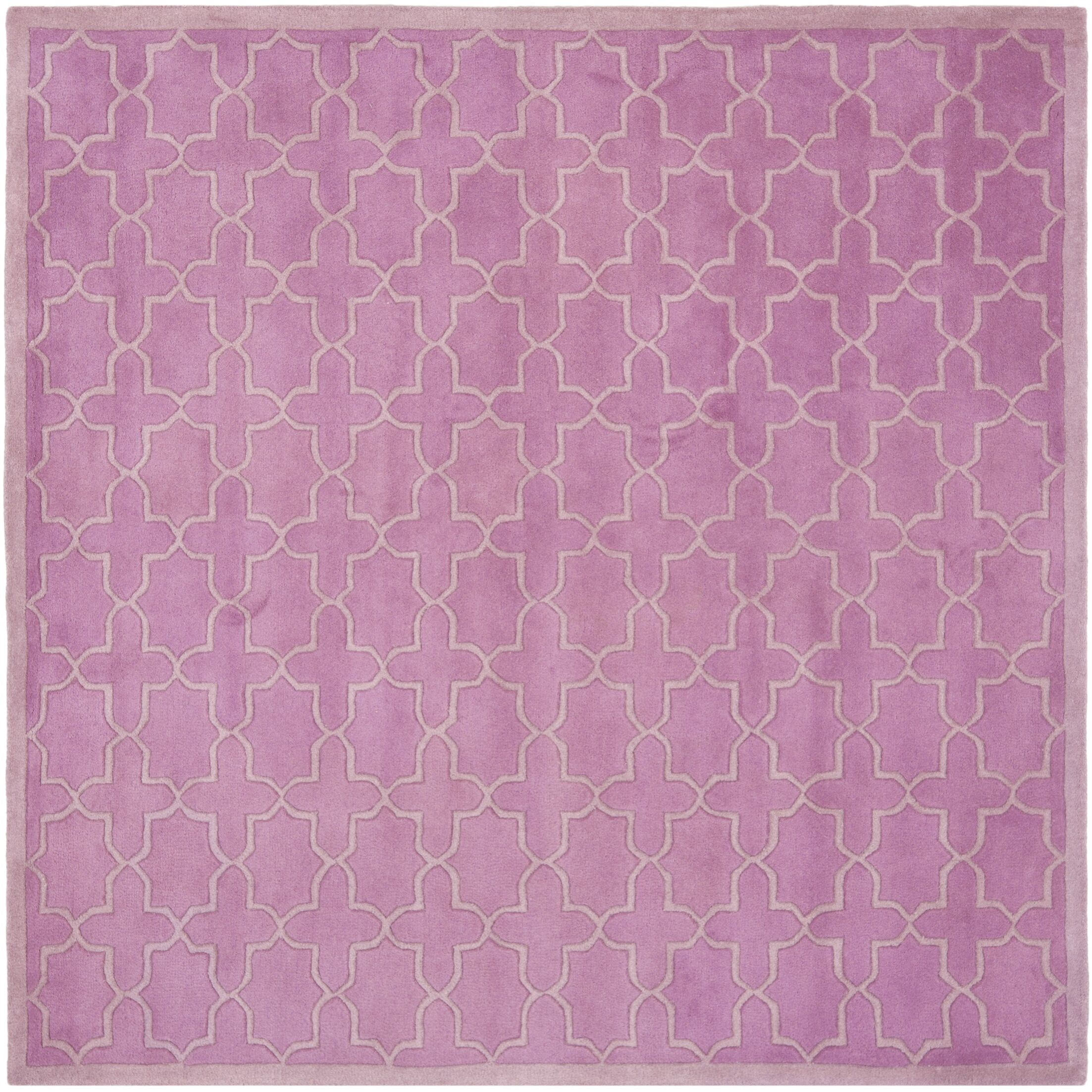 Wilkin Pink Area Rug Rug Size: Square 7'