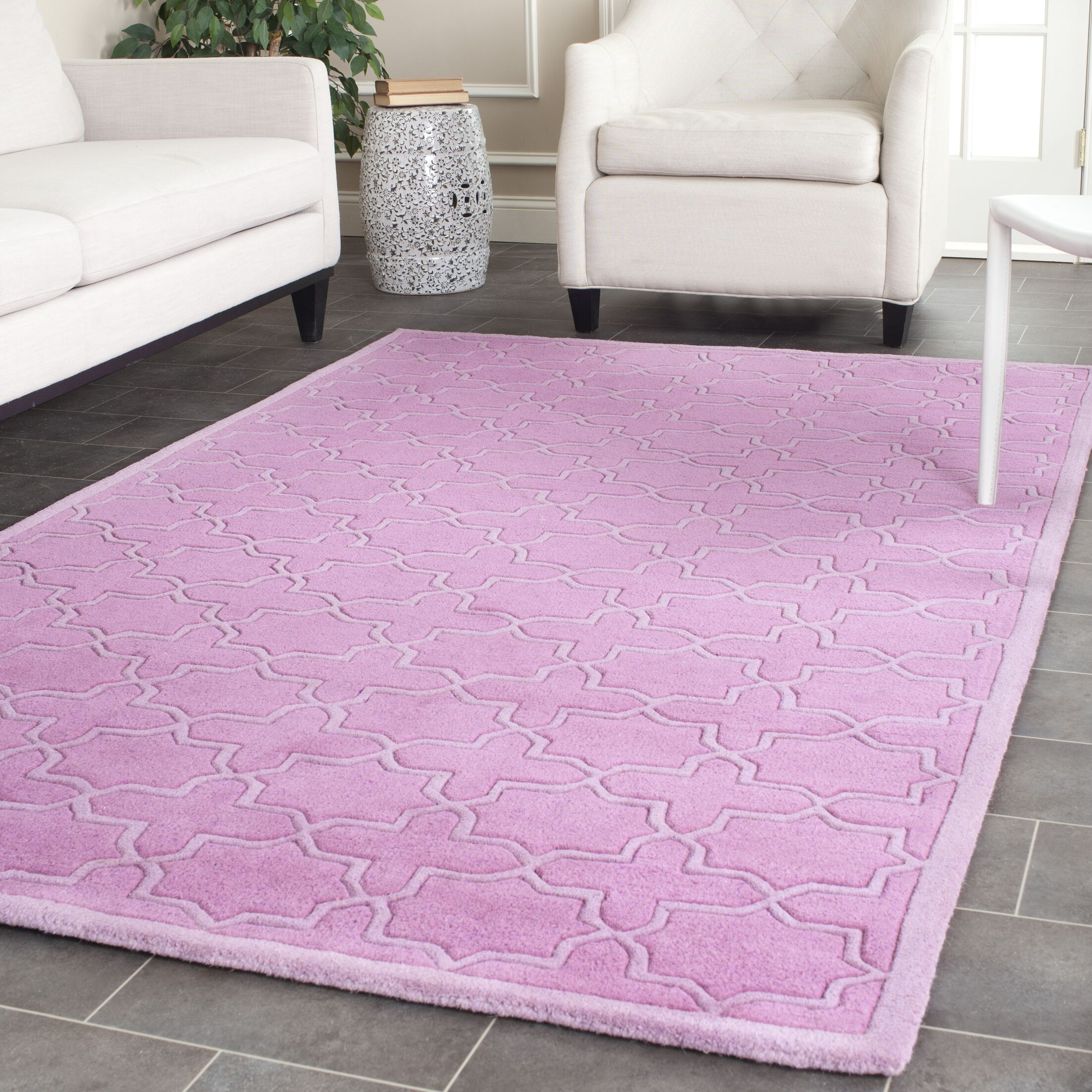 Wilkin Pink Area Rug Rug Size: Rectangle 8'9