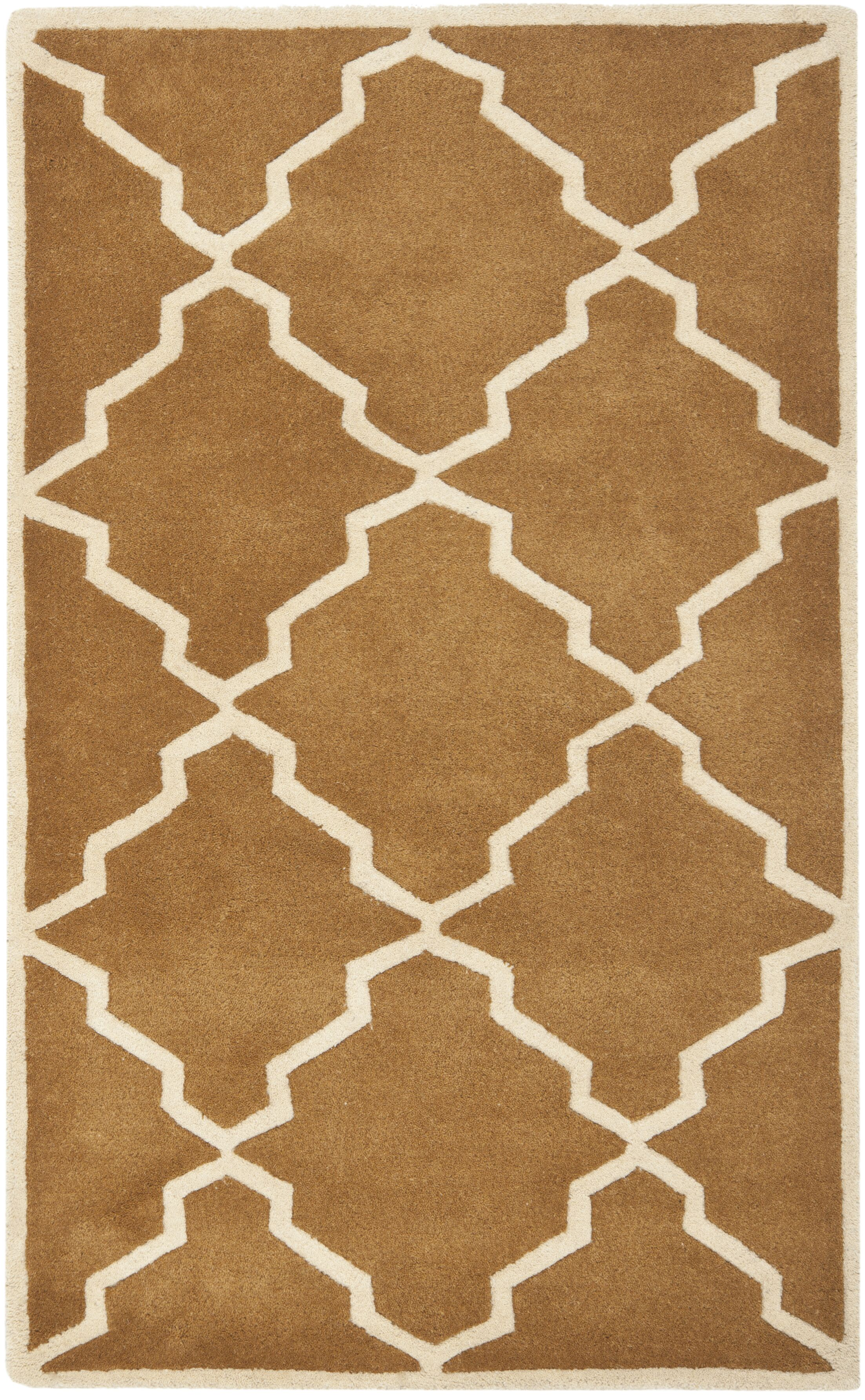 Wilkin Brown Rug Rug Size: Rectangle 3' x 5'