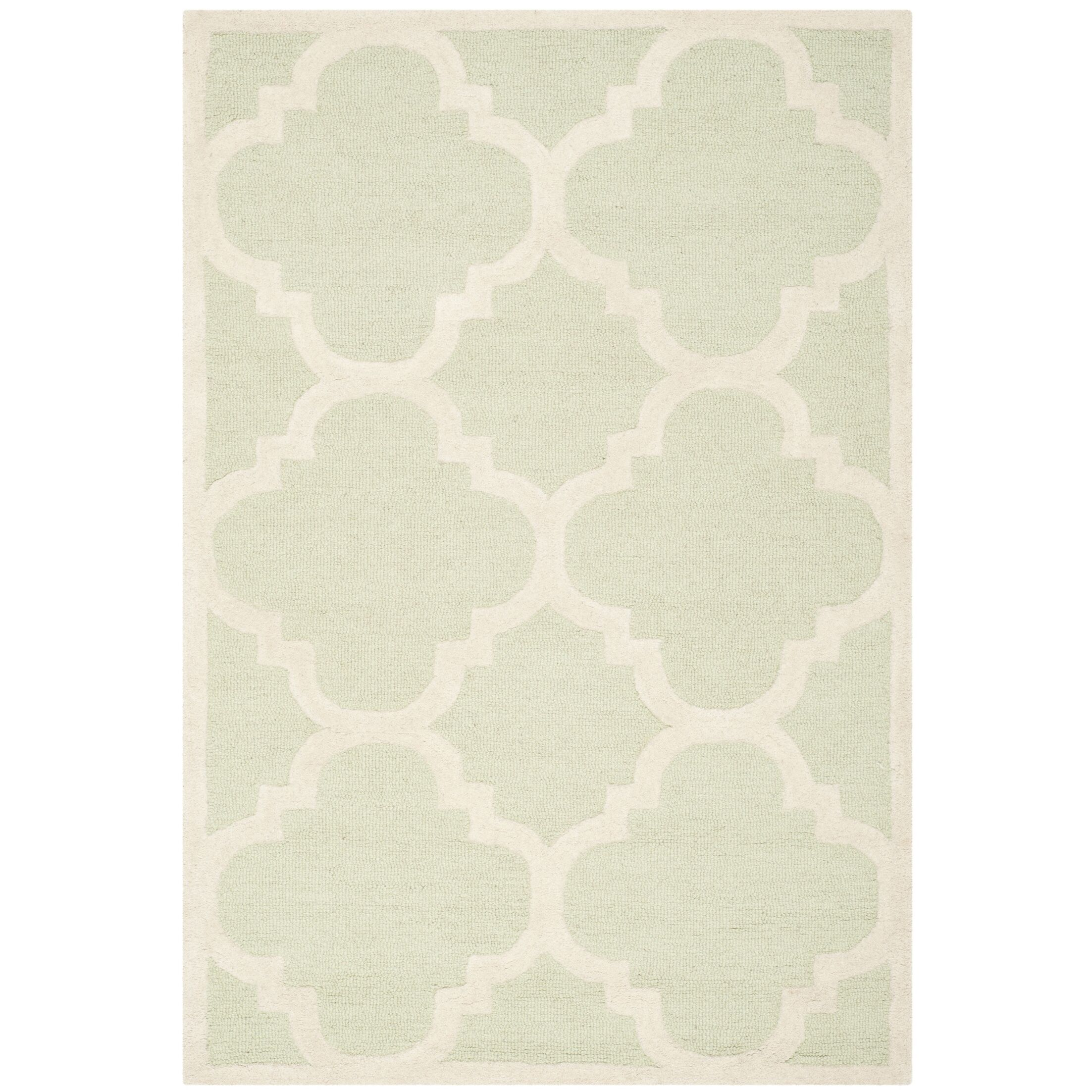 Charlenne Wool Light Green / Ivory Area Rug Rug Size: Rectangle 9' x 12'