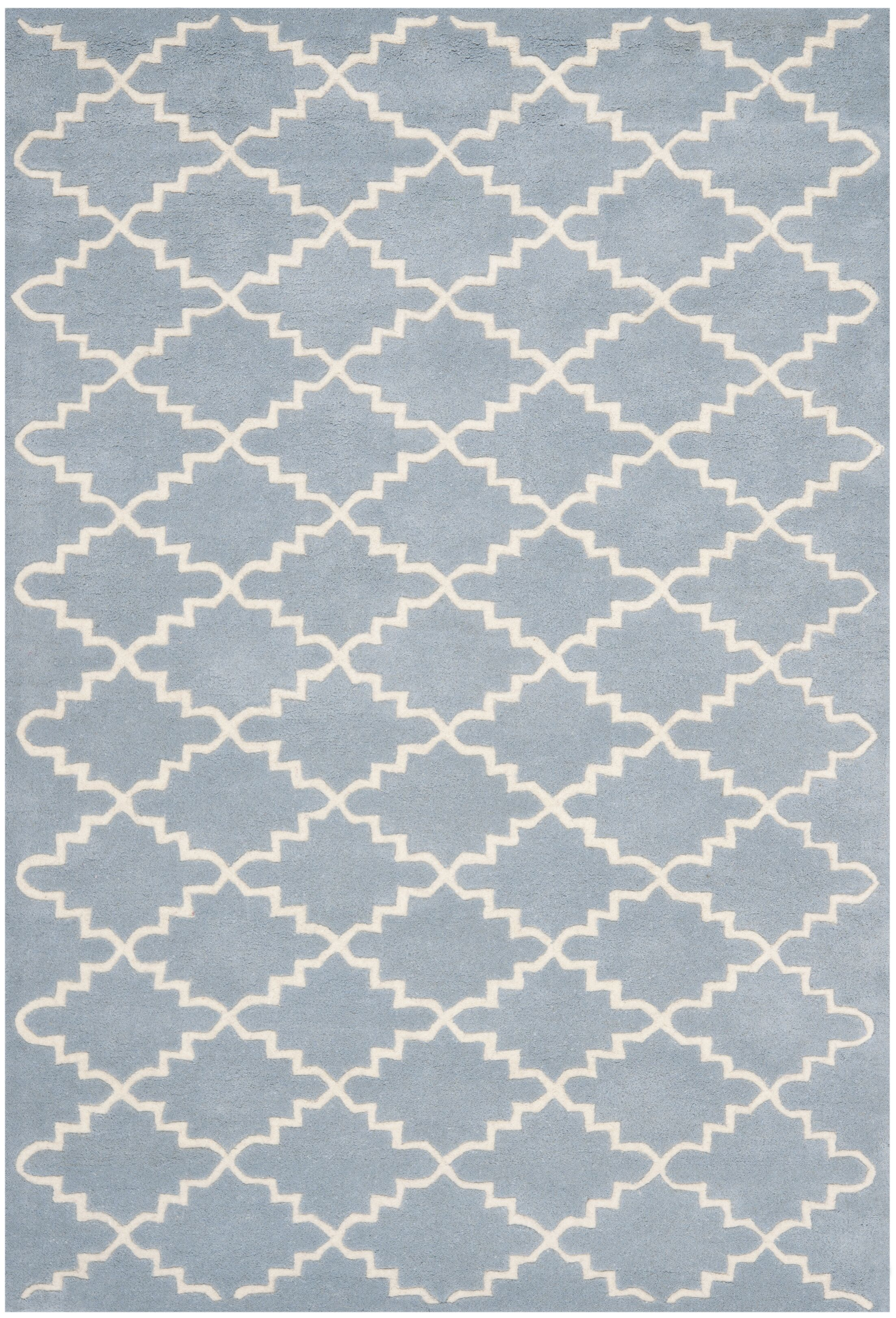 Wilkin Blue & Ivory Area Rug Rug Size: Rectangle 3' x 5'