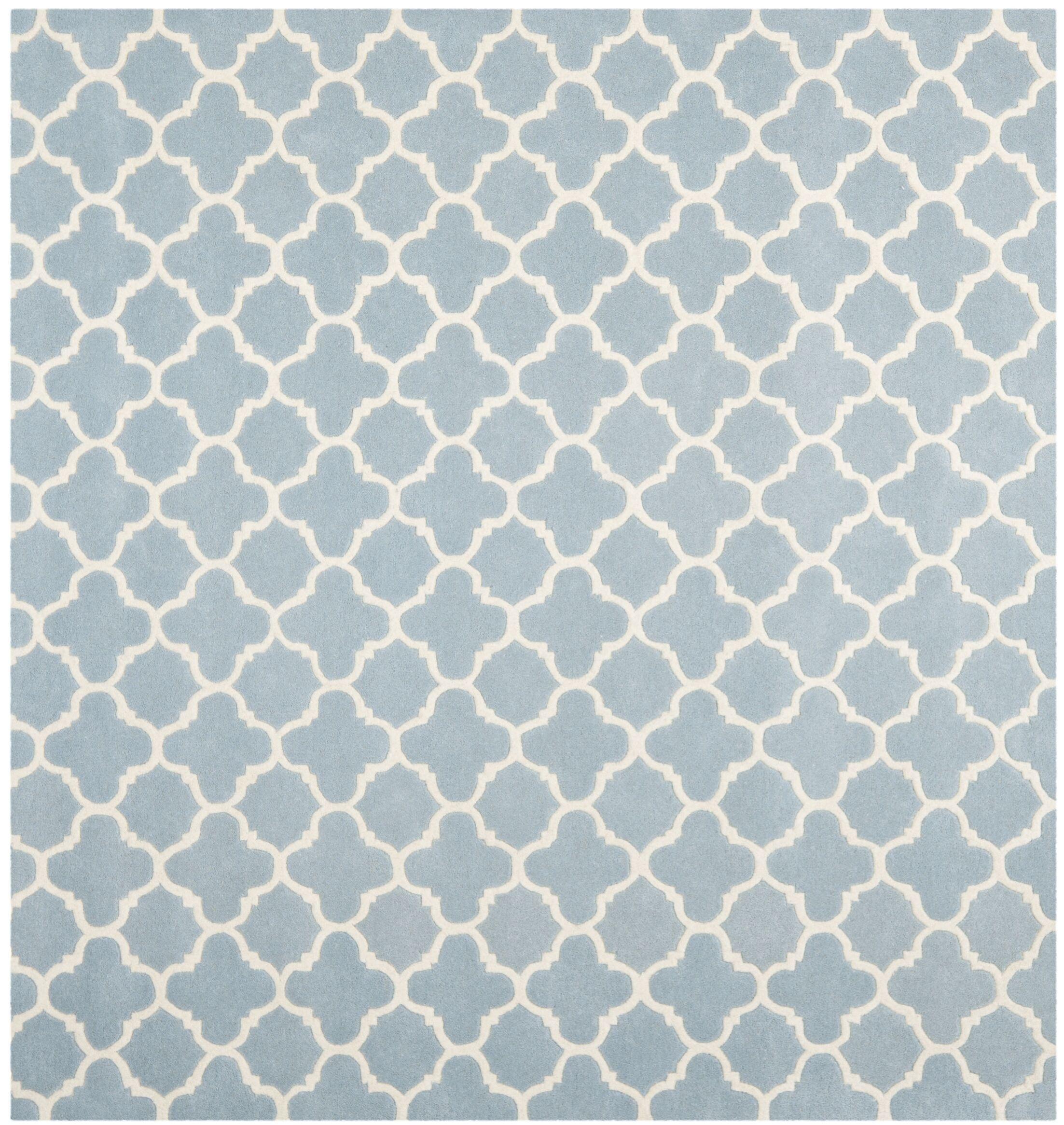 Wilkin Blue & Ivory Area Rug I Rug Size: Square 8'9