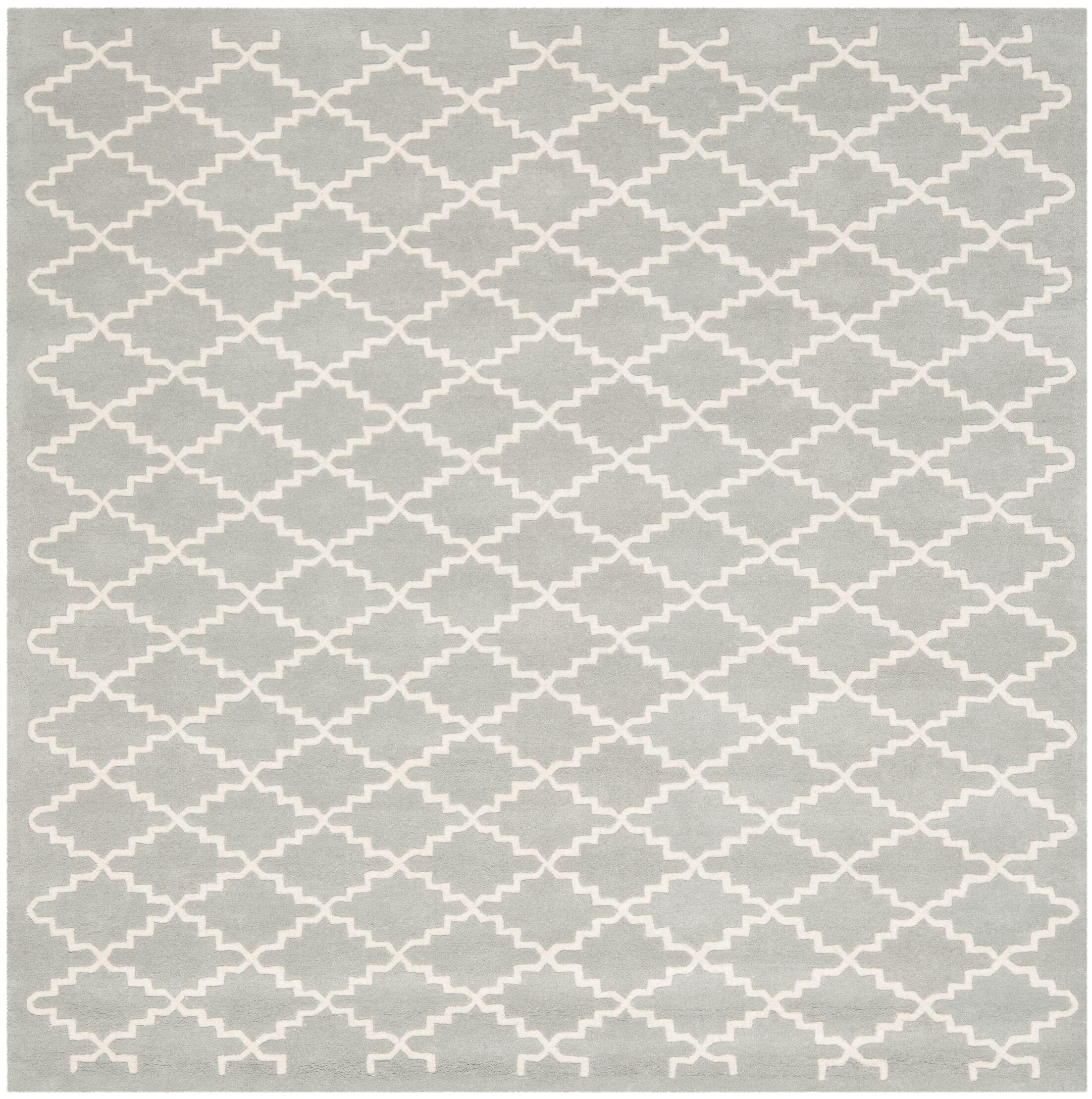 Wilkin Grey / Ivory Rug Rug Size: Square 7'