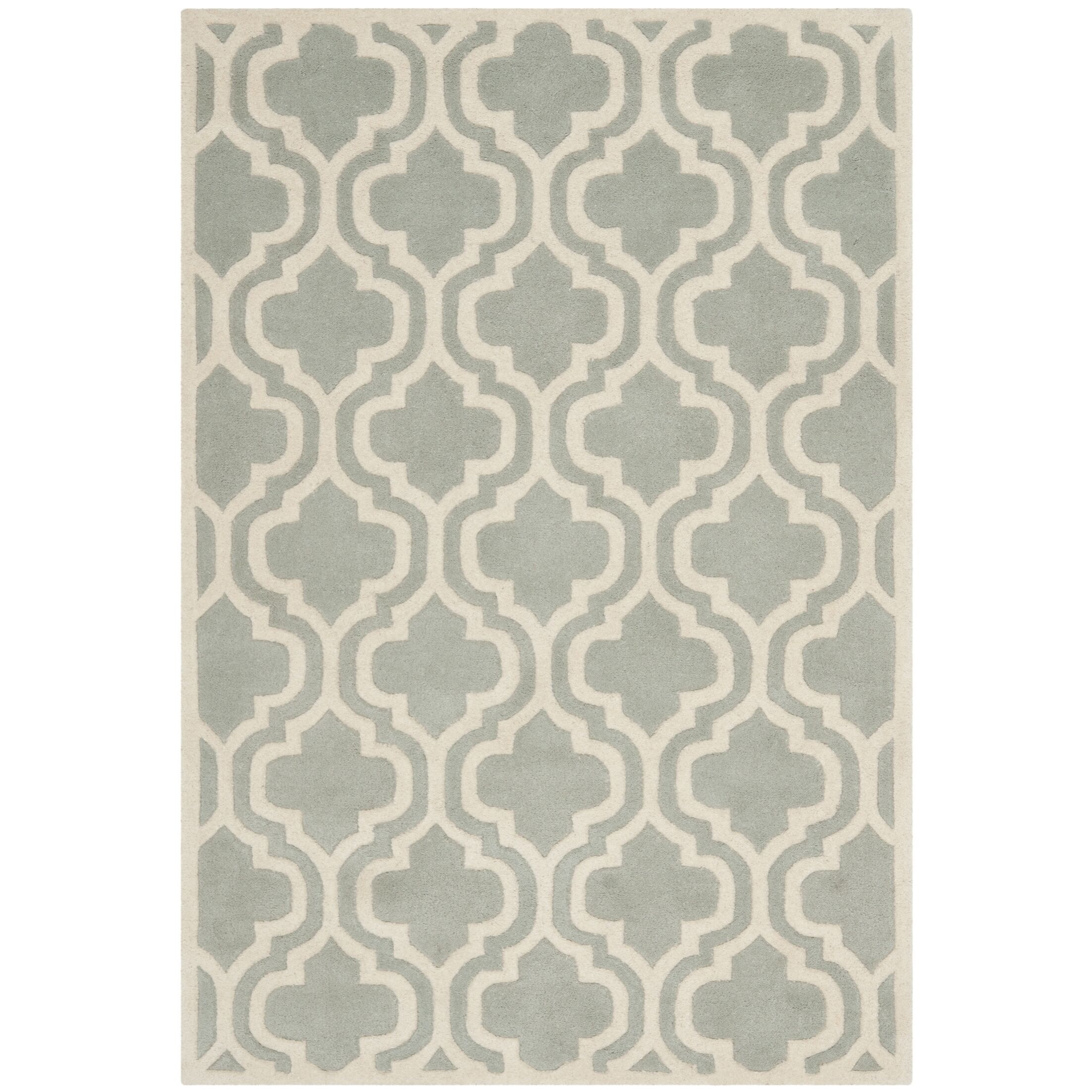 Wilkin Grey / Ivory Rug Rug Size: Rectangle 8'9