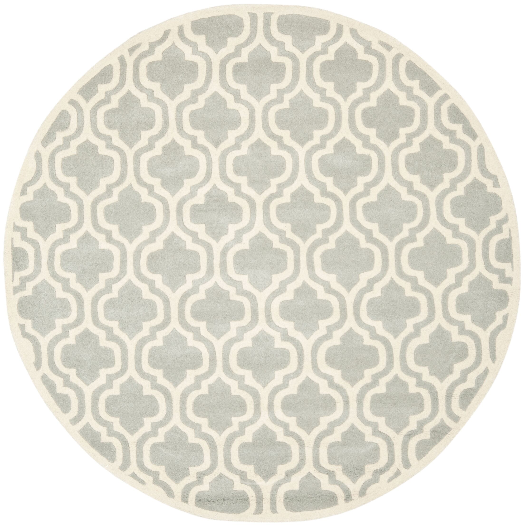 Wilkin Grey / Ivory Rug Rug Size: Round 7'