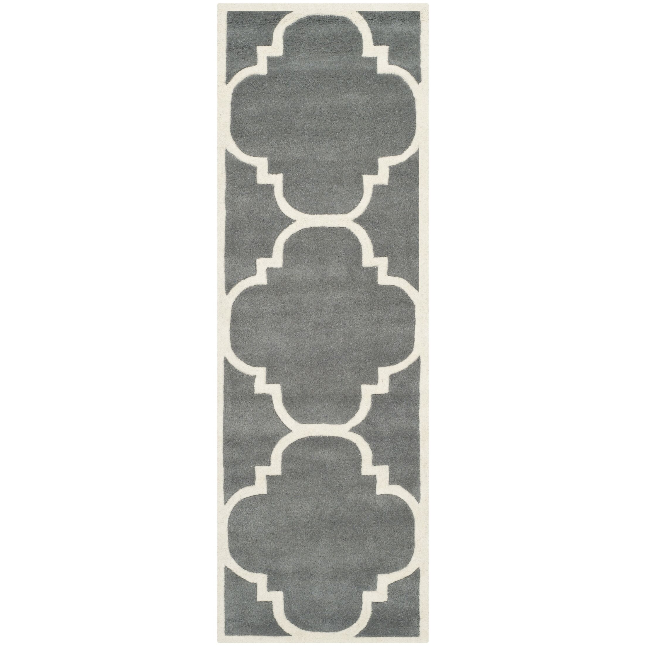 Wilkin Hand-Tufted Wool Dark Gray Area Rug Rug Size: Runner 2'3