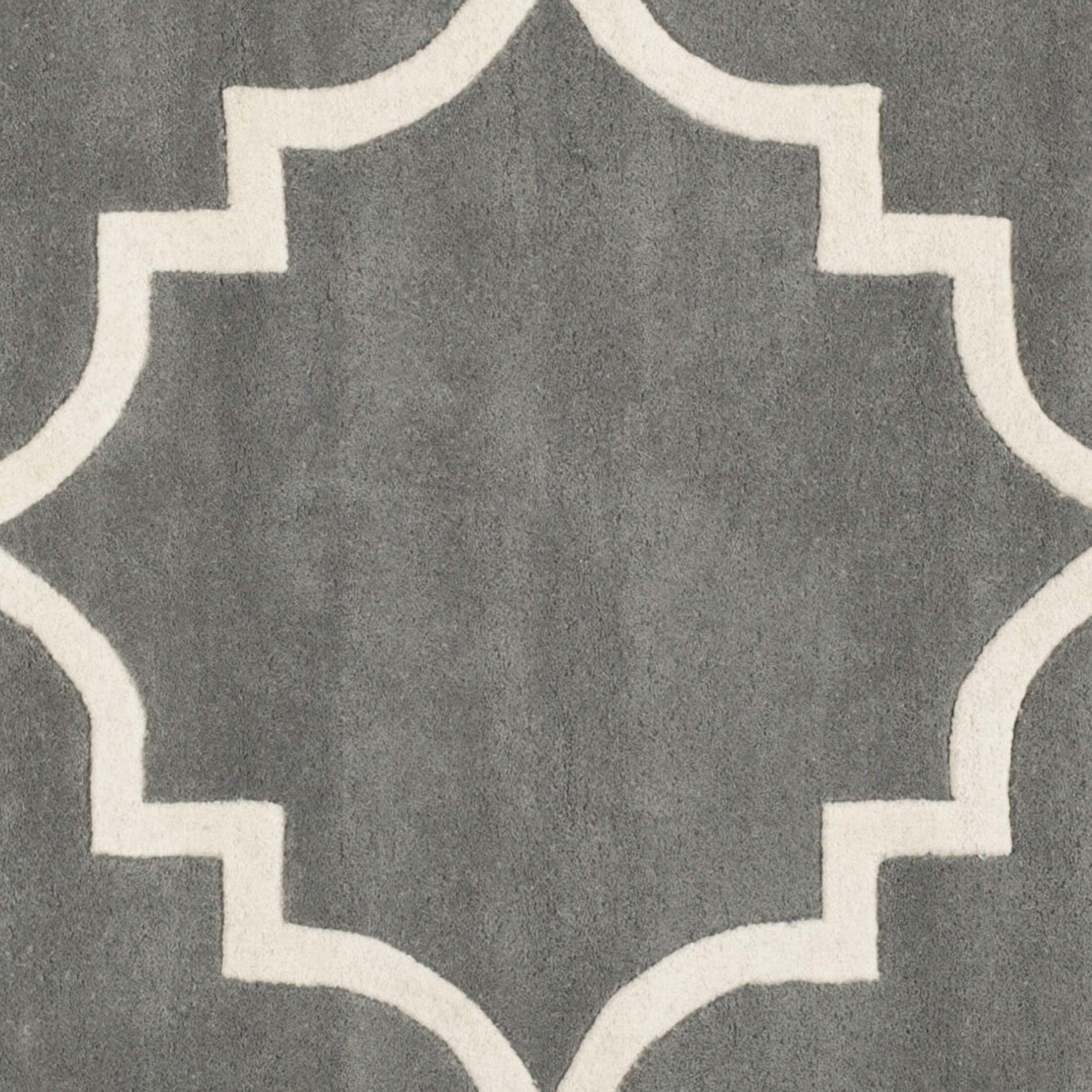 Wilkin Hand-Tufted Wool Dark Gray Area Rug Rug Size: Rectangle 4' x 6'