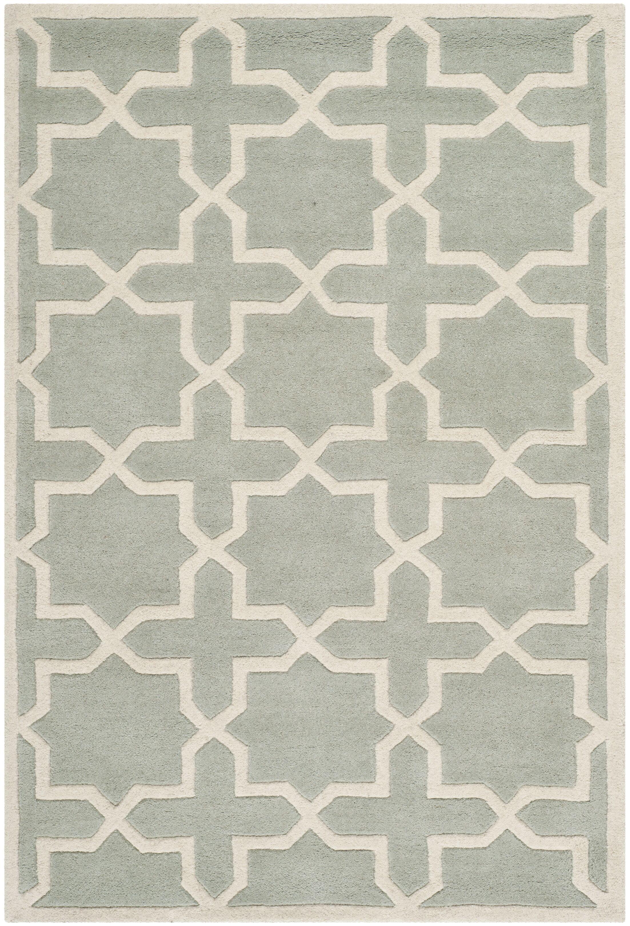 Wilkin Hand-Woven Gray Area Rug Rug Size: Rectangle 3' x 5'