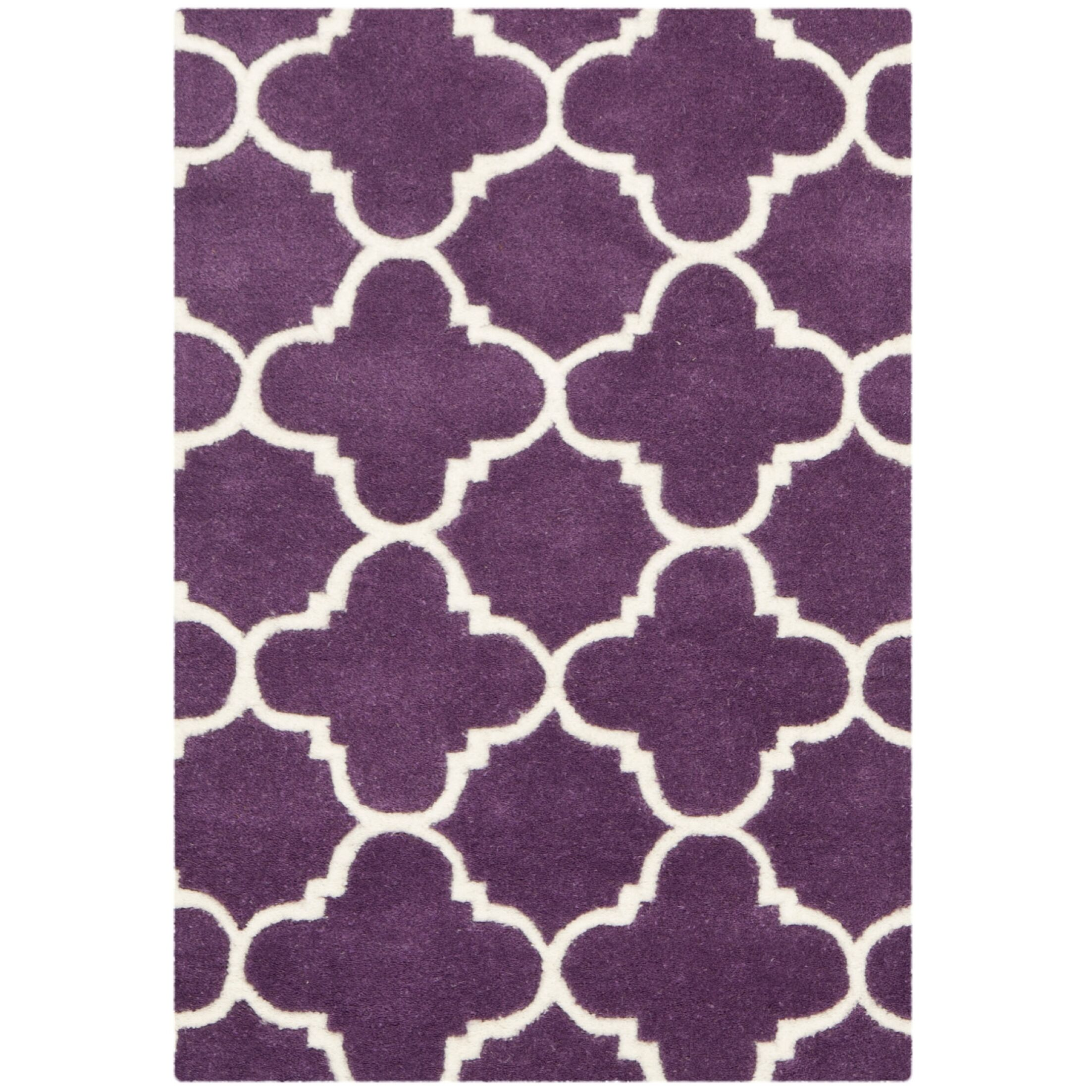 Wilkin Purple & Ivory Area Rug Rug Size: Rectangle 8' x 10'